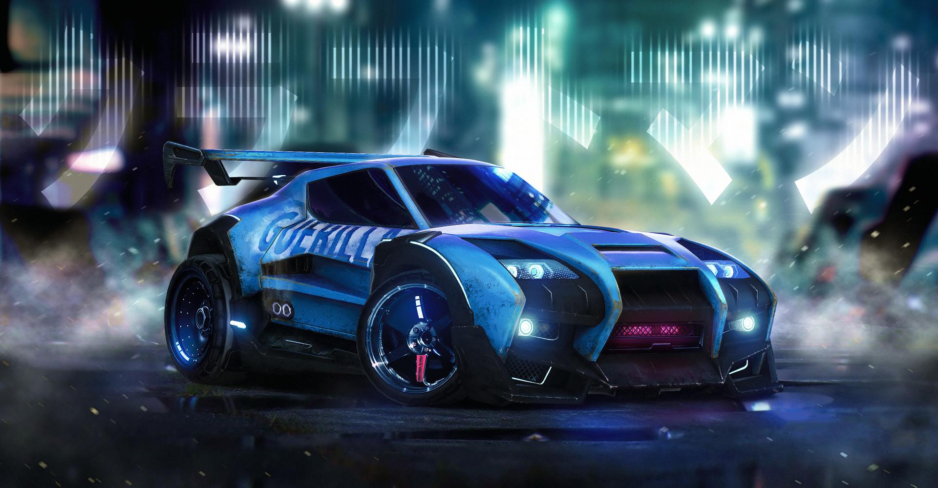 Rocket League Car Artwork Hd Games 4k Wallpapers Images