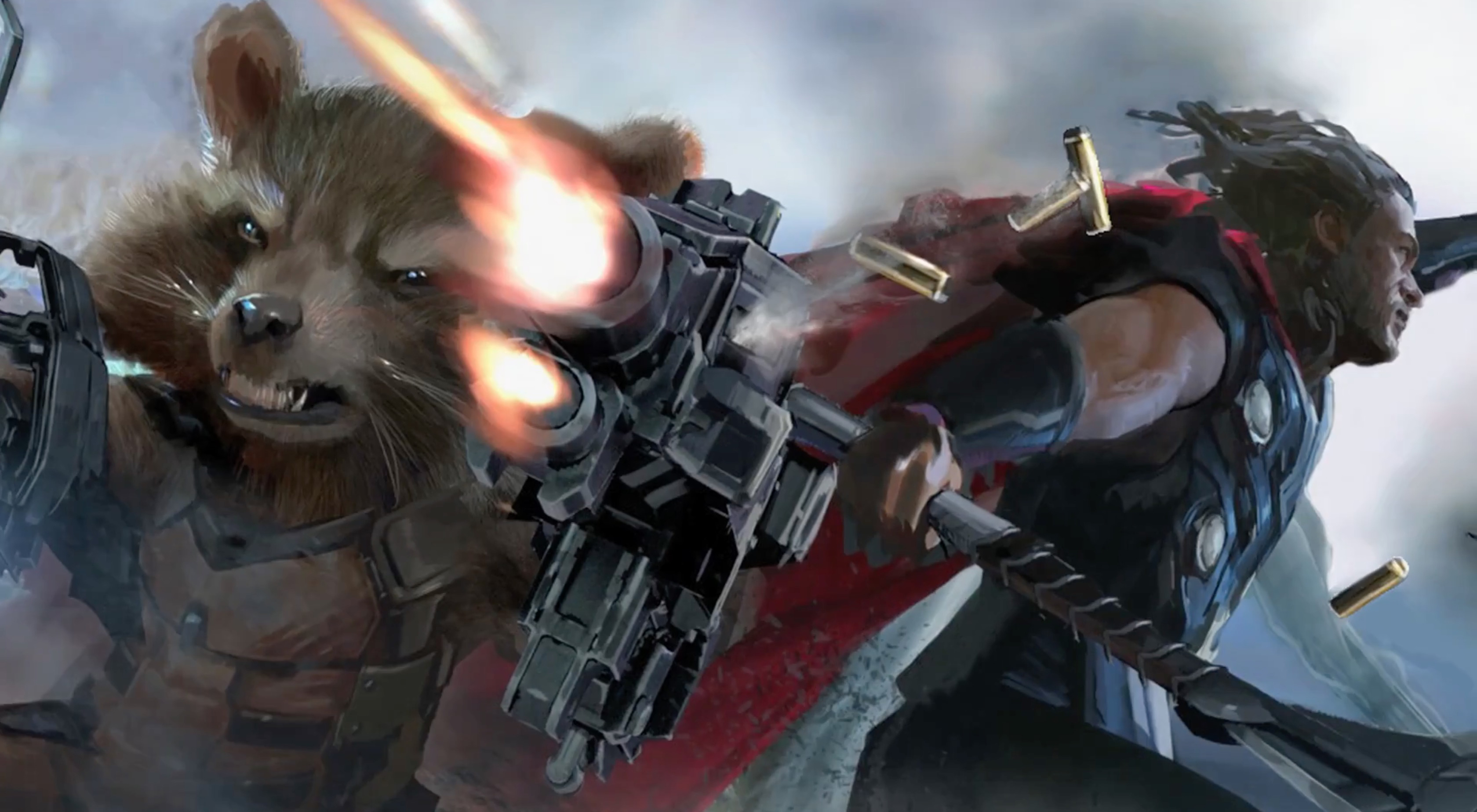 Rocket Raccoon And Thor In Avengers Infinity War Artwork Hd Movies