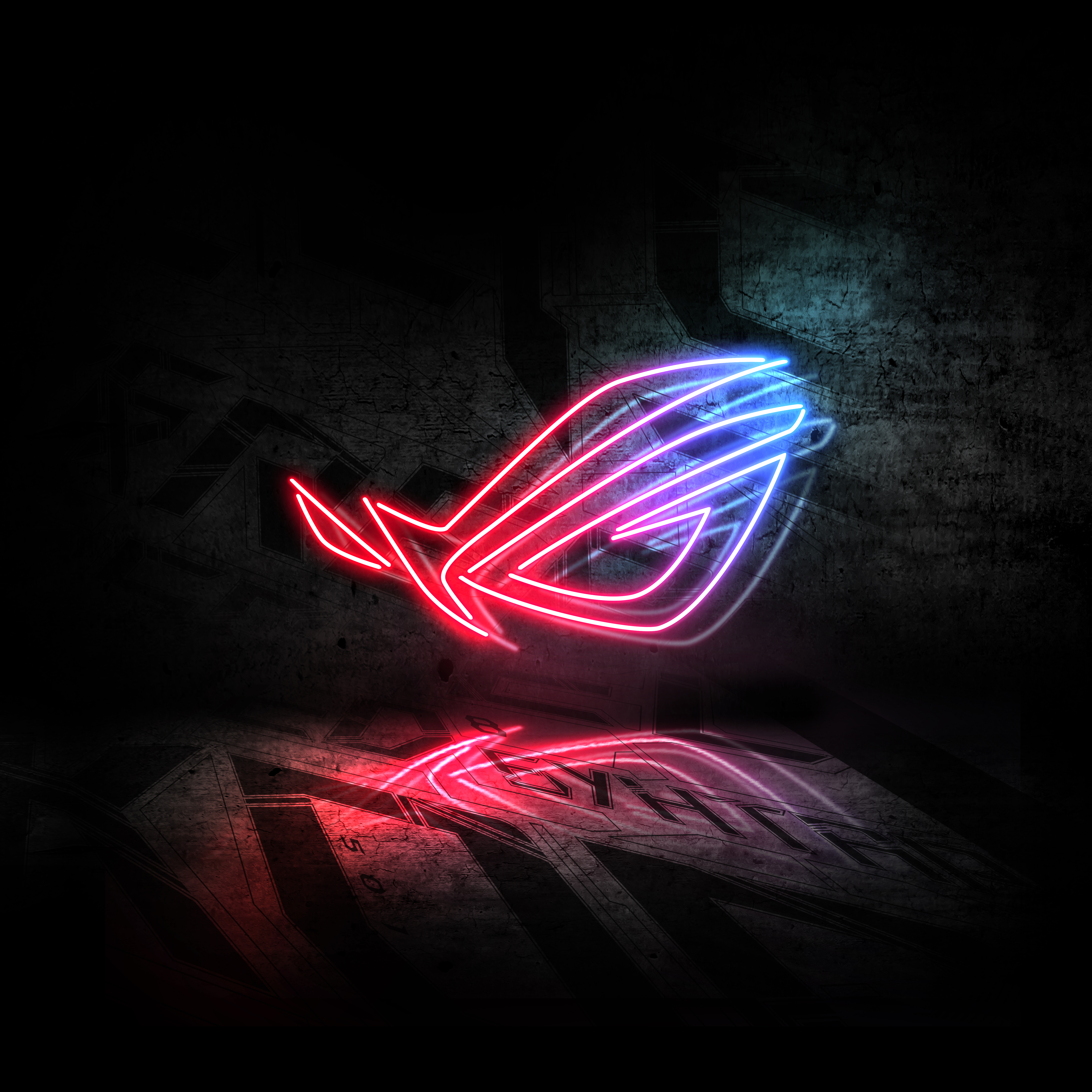 Hd Wallpapers For Logo: Rog Neon Logo 5k, HD Computer, 4k Wallpapers, Images