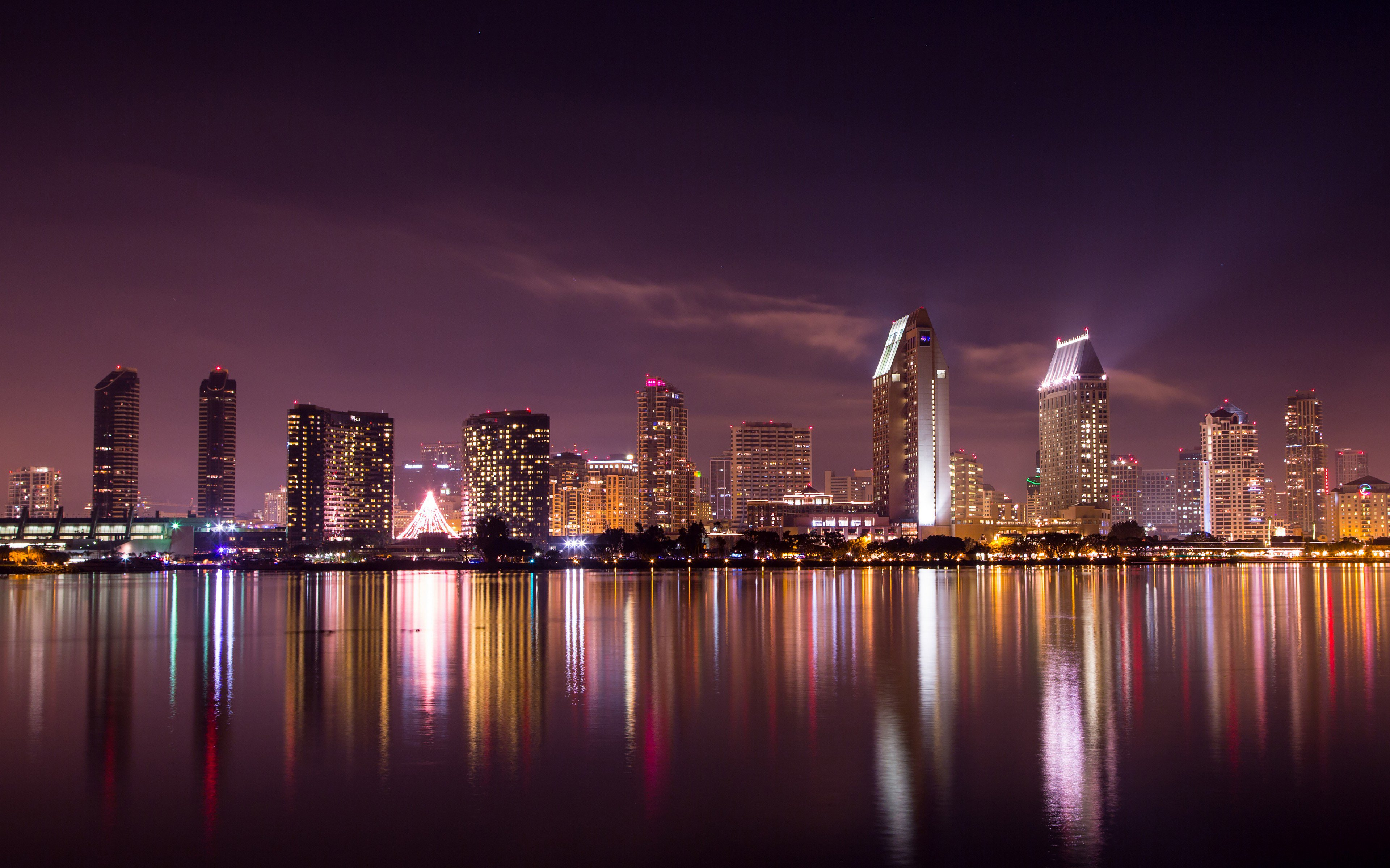wallpaper san diego  San Diego Skyline, HD World, 4k Wallpapers, Images, Backgrounds ...