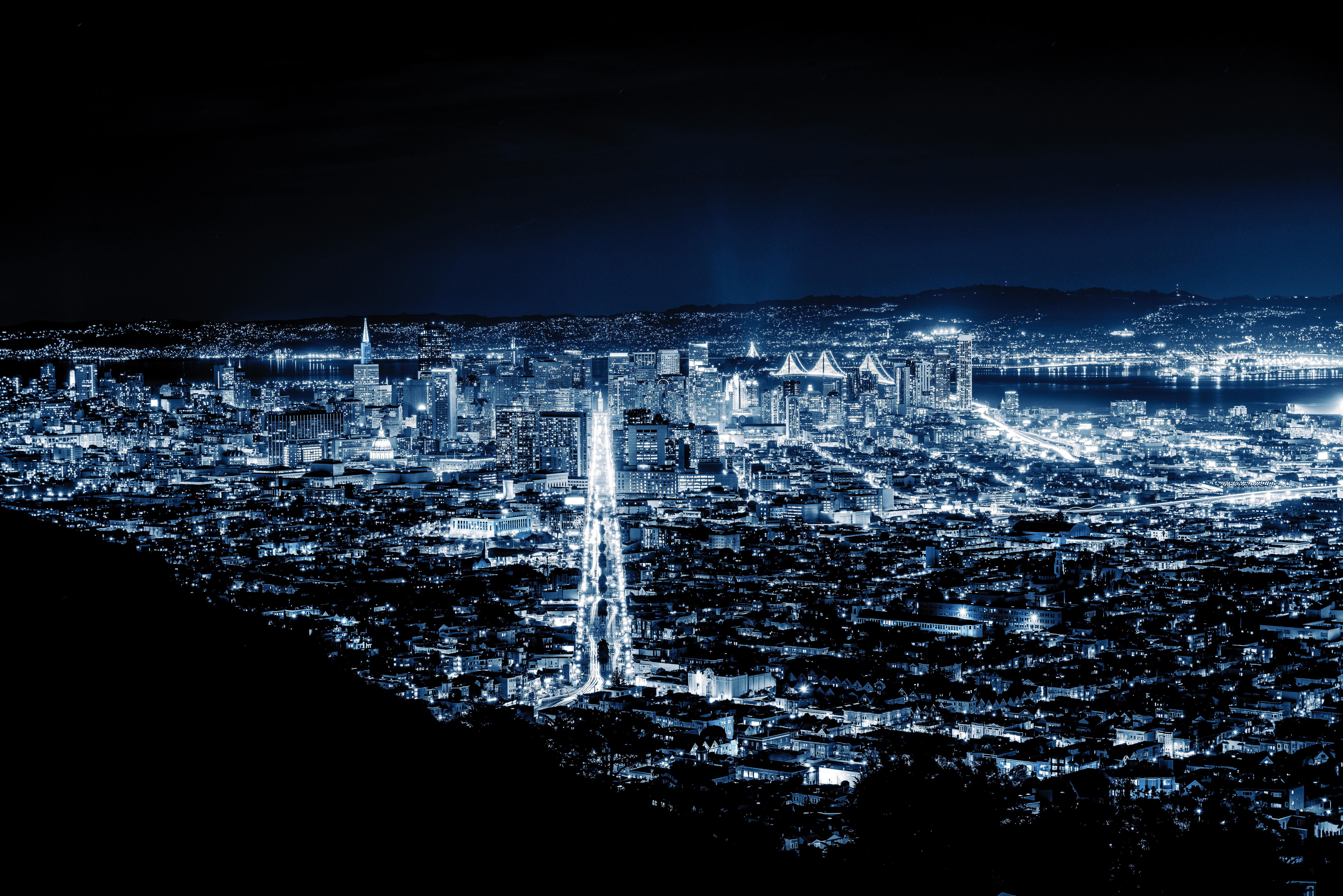 San Francisco Night 8k Hd World 4k Wallpapers Images