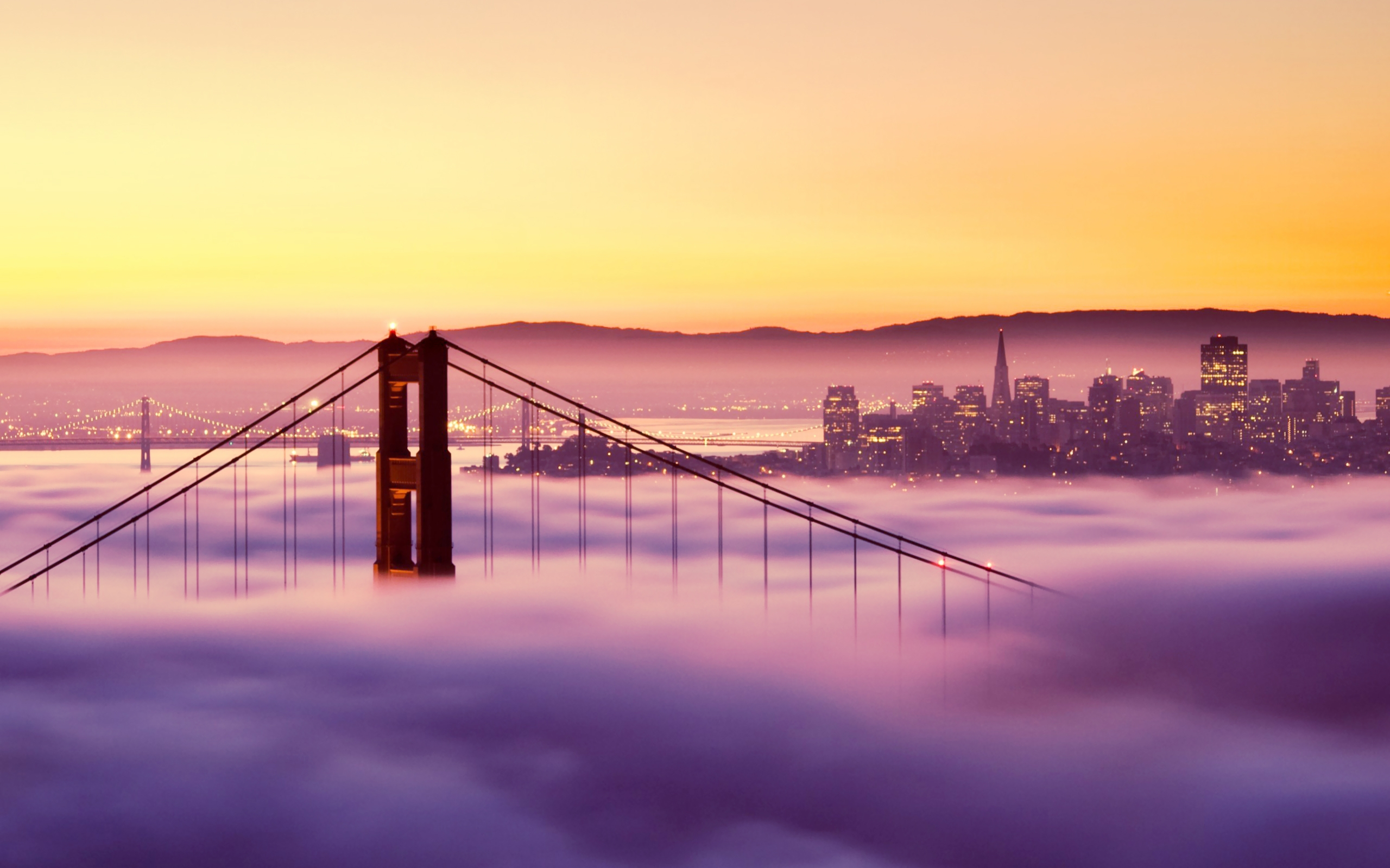 San Franciso Sunset Bridge