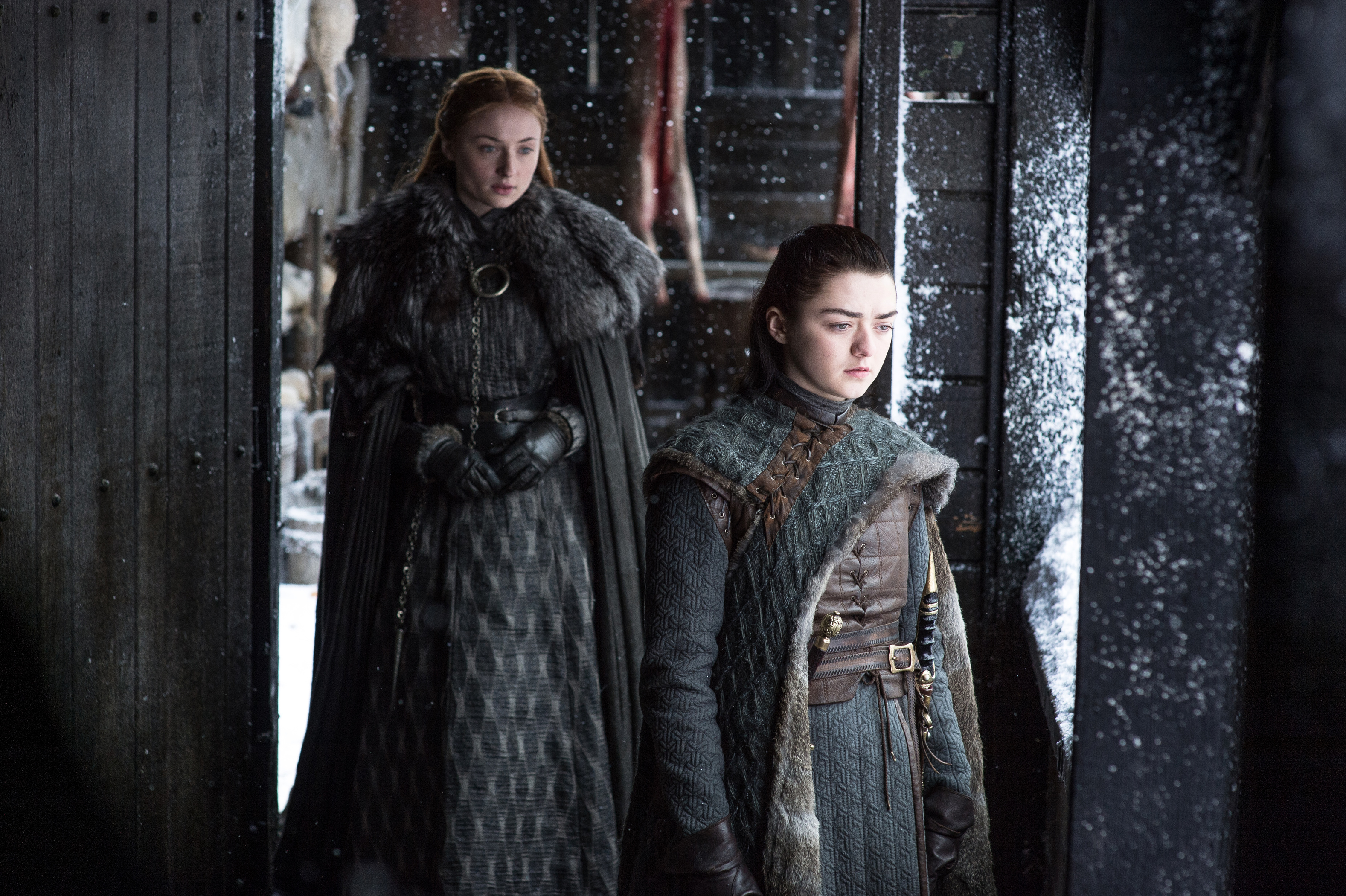 Sansa And Arya Stark Game Of Thrones Season 7 Hd Tv Shows