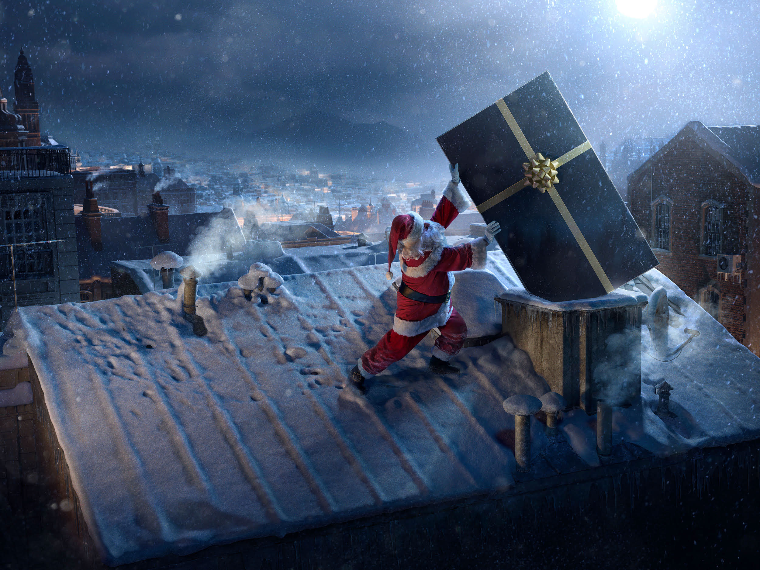 1125x2436 Santa Claus Chimne Present Delivery Iphone Xs