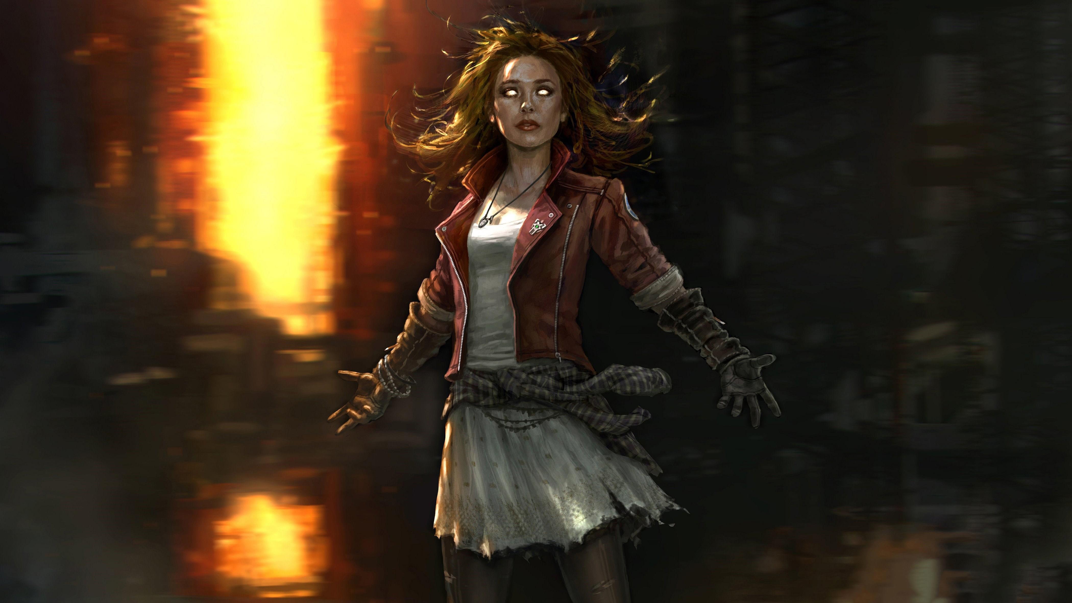 Scarlet Witch 4k Artwork
