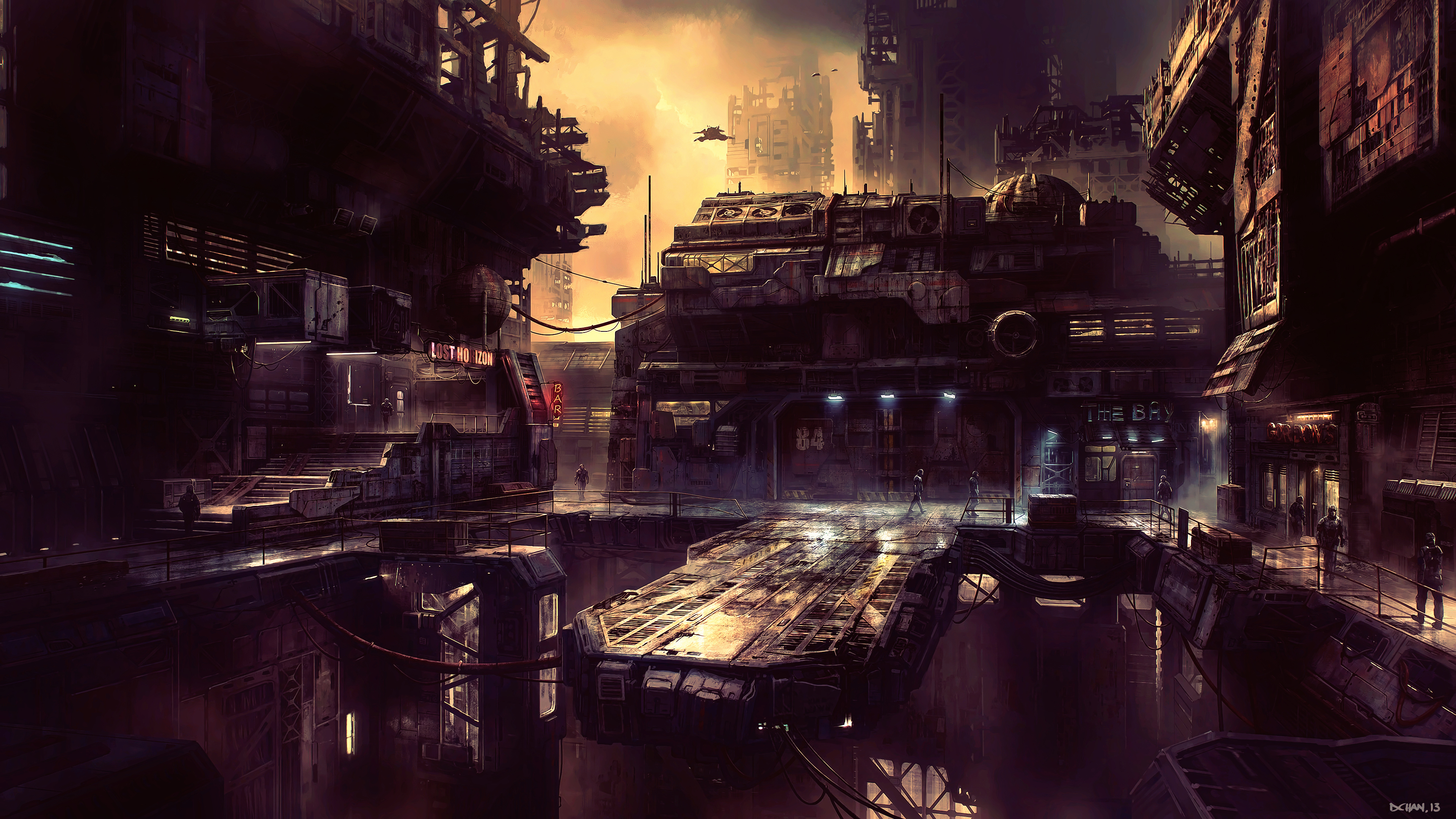 Science Fiction Future City 4k Hd Artist 4k Wallpapers