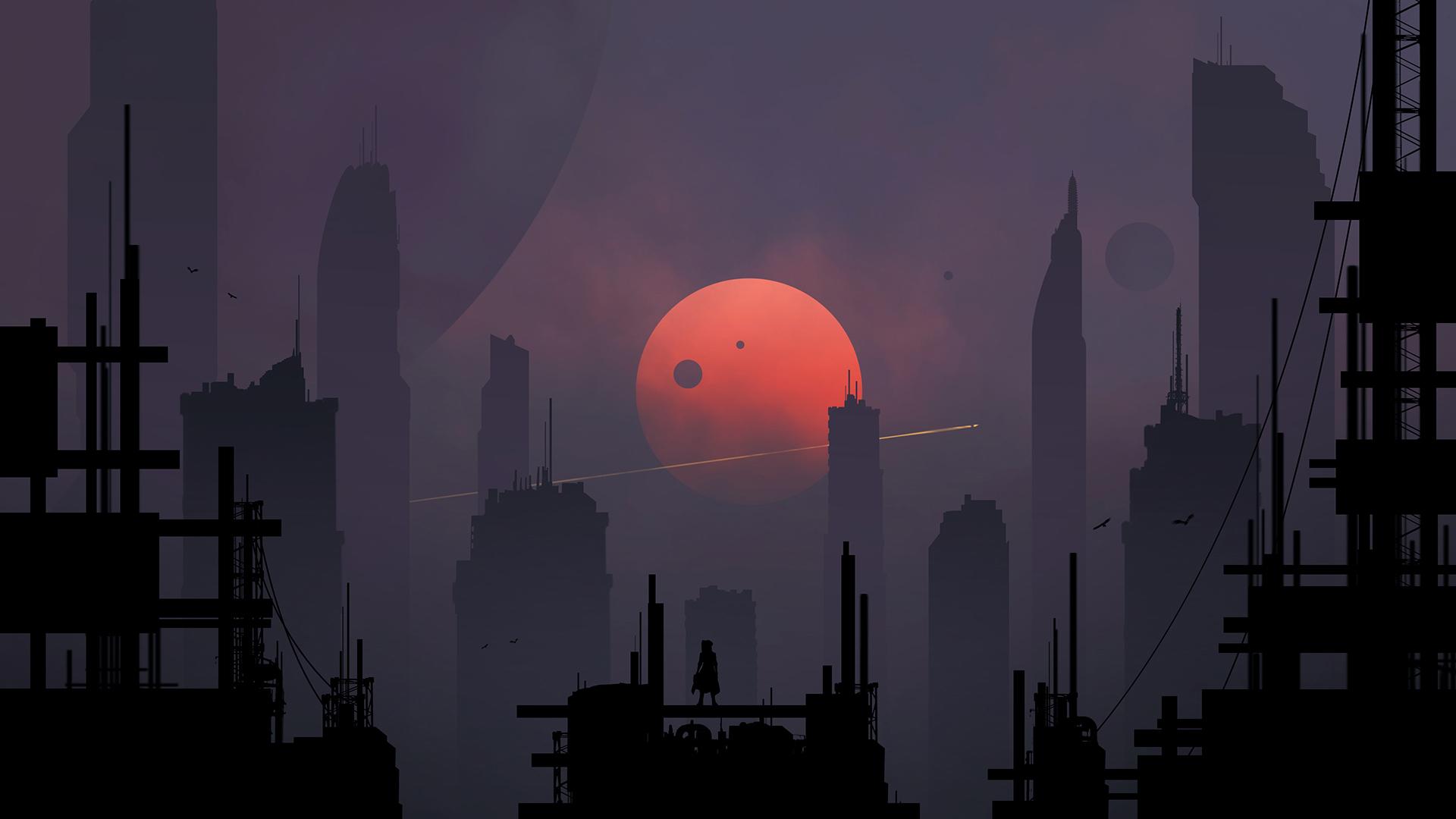 Scifi City Minimalism