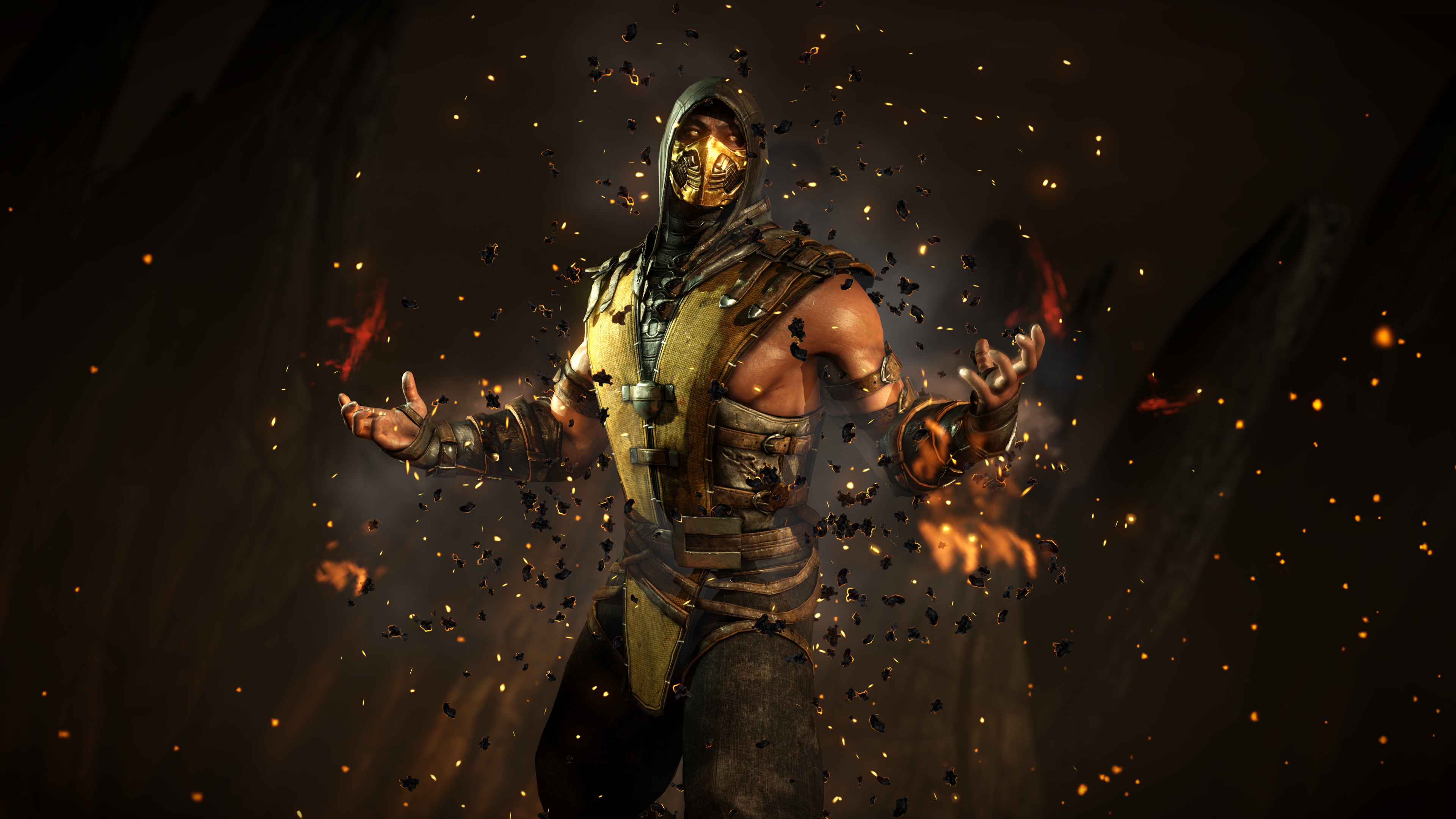 Scorpion mortal kombat x 4k hd games 4k wallpapers - Mortal kombat scorpion wallpaper ...