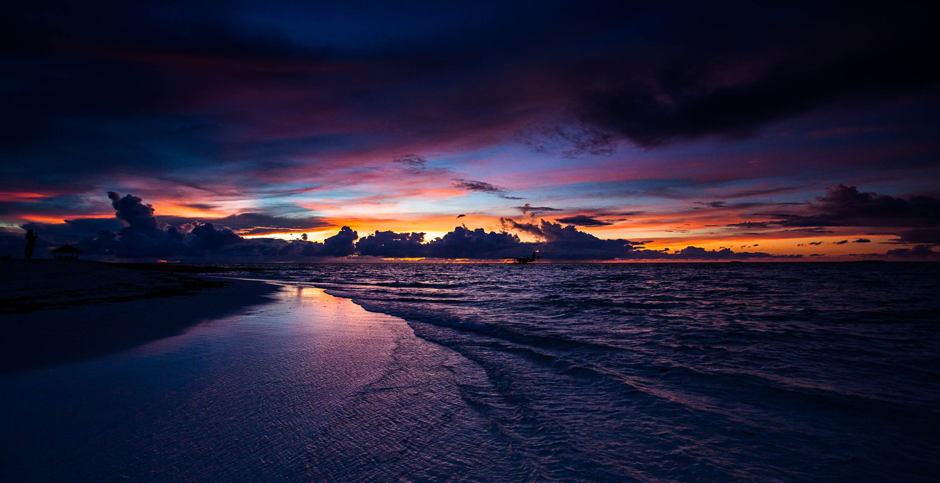 Sea Shore Sunset, HD Nature, 4k Wallpapers, Images ...