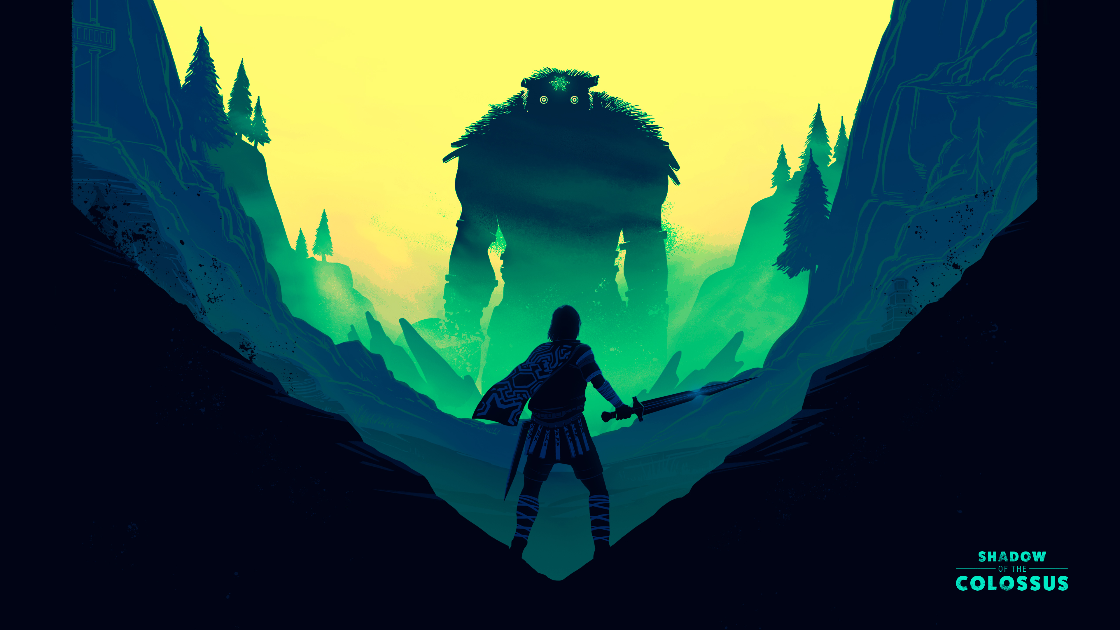 3840x2160 shadow of the colossus fan art illustration 4k - Shadow of the colossus iphone wallpaper ...