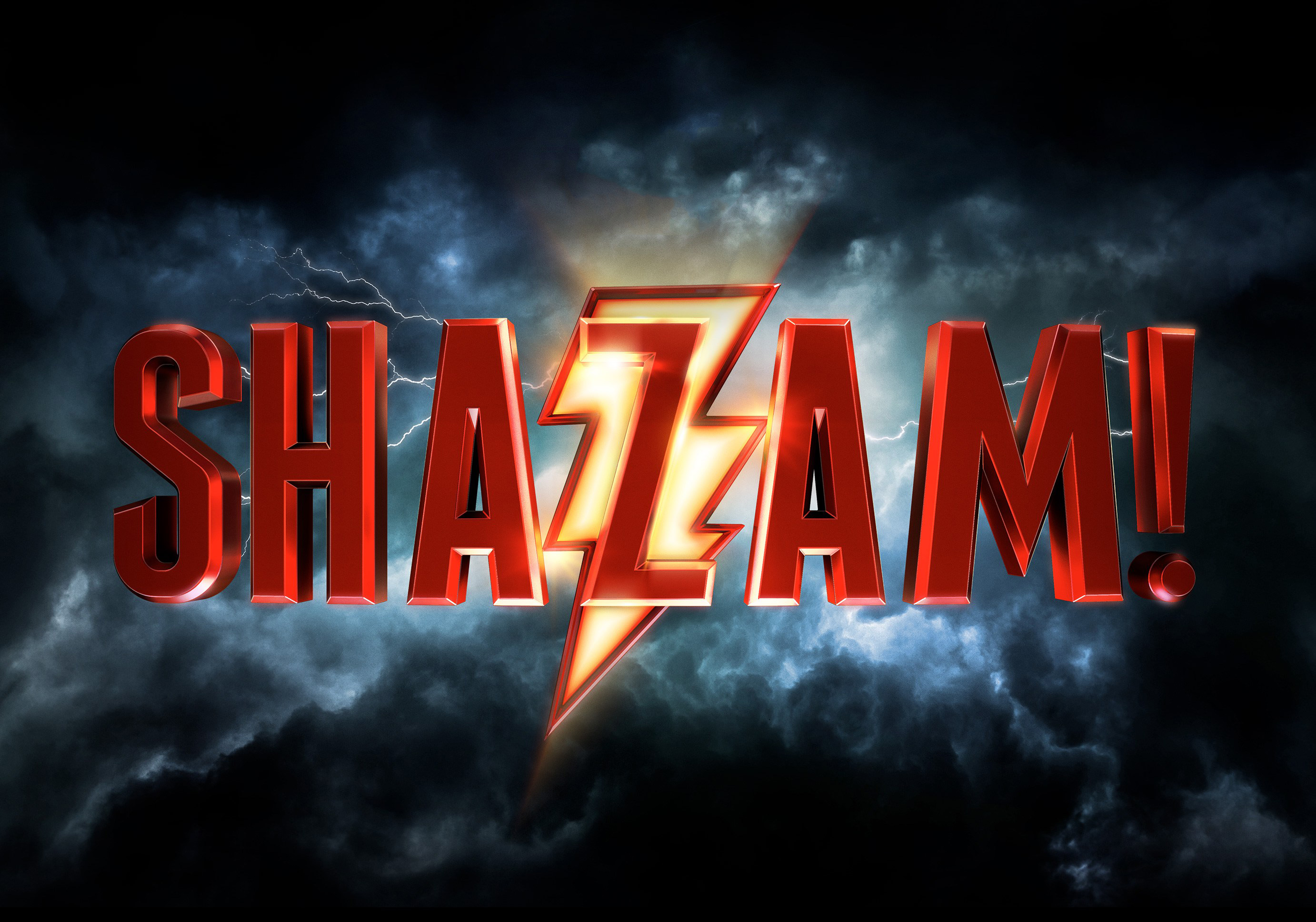 Shazam 2019 Movie Logo Hd Movies 4k Wallpapers Images
