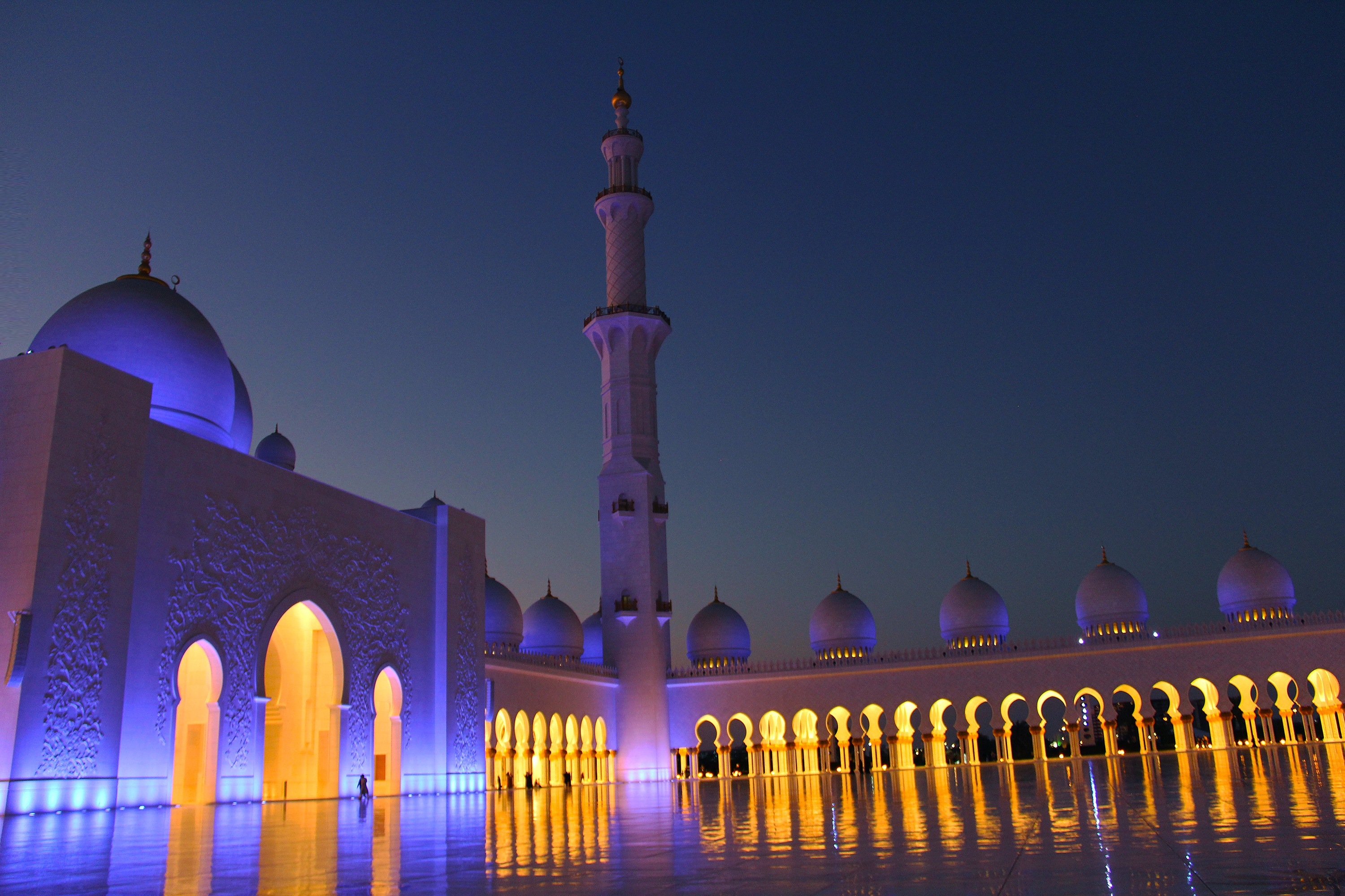 Sheikh Zayed Grand Mosque Hd World 4k Wallpapers Images