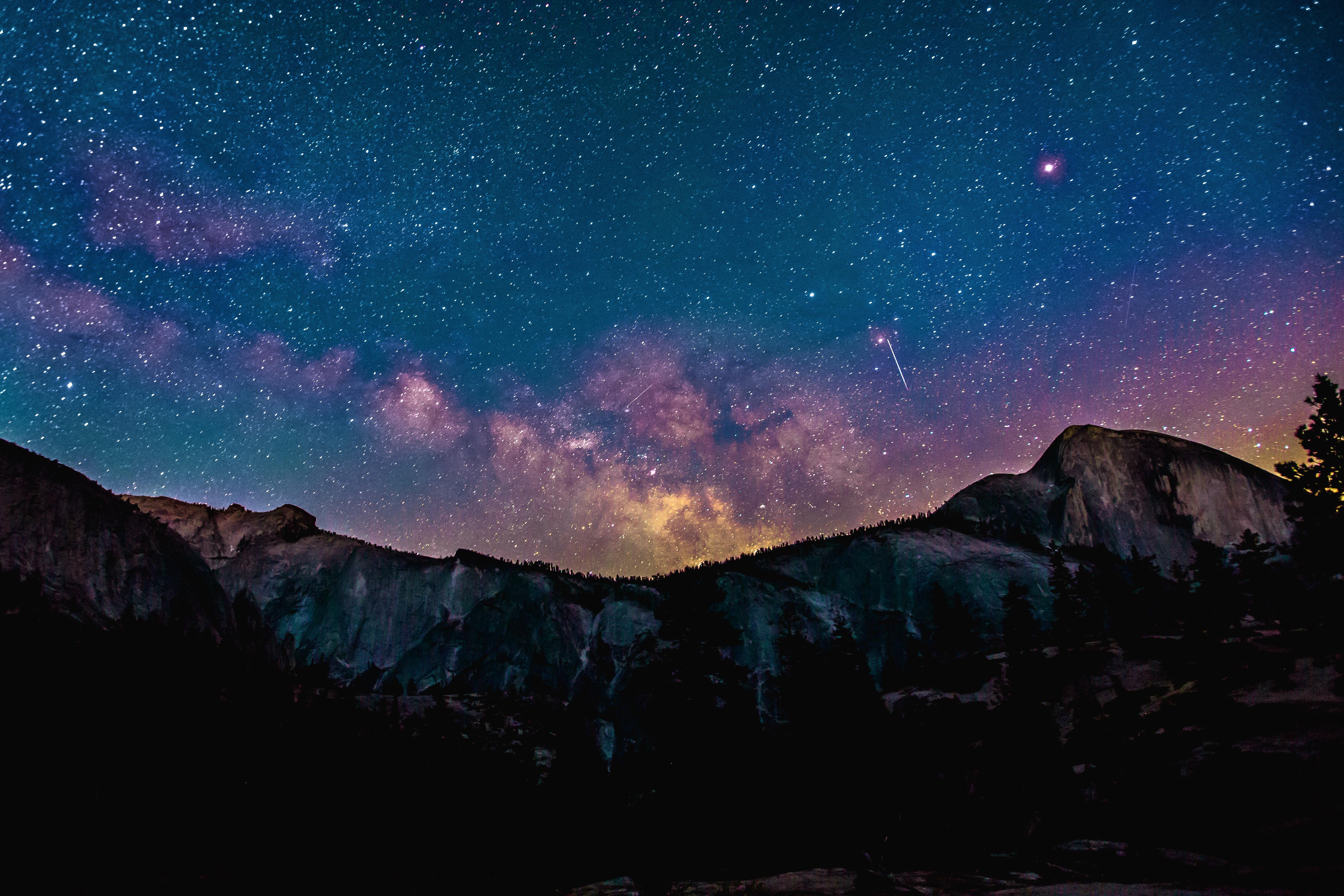 Shooting Star Milkway Galaxy Night Sky 4k, HD Nature, 4k ...