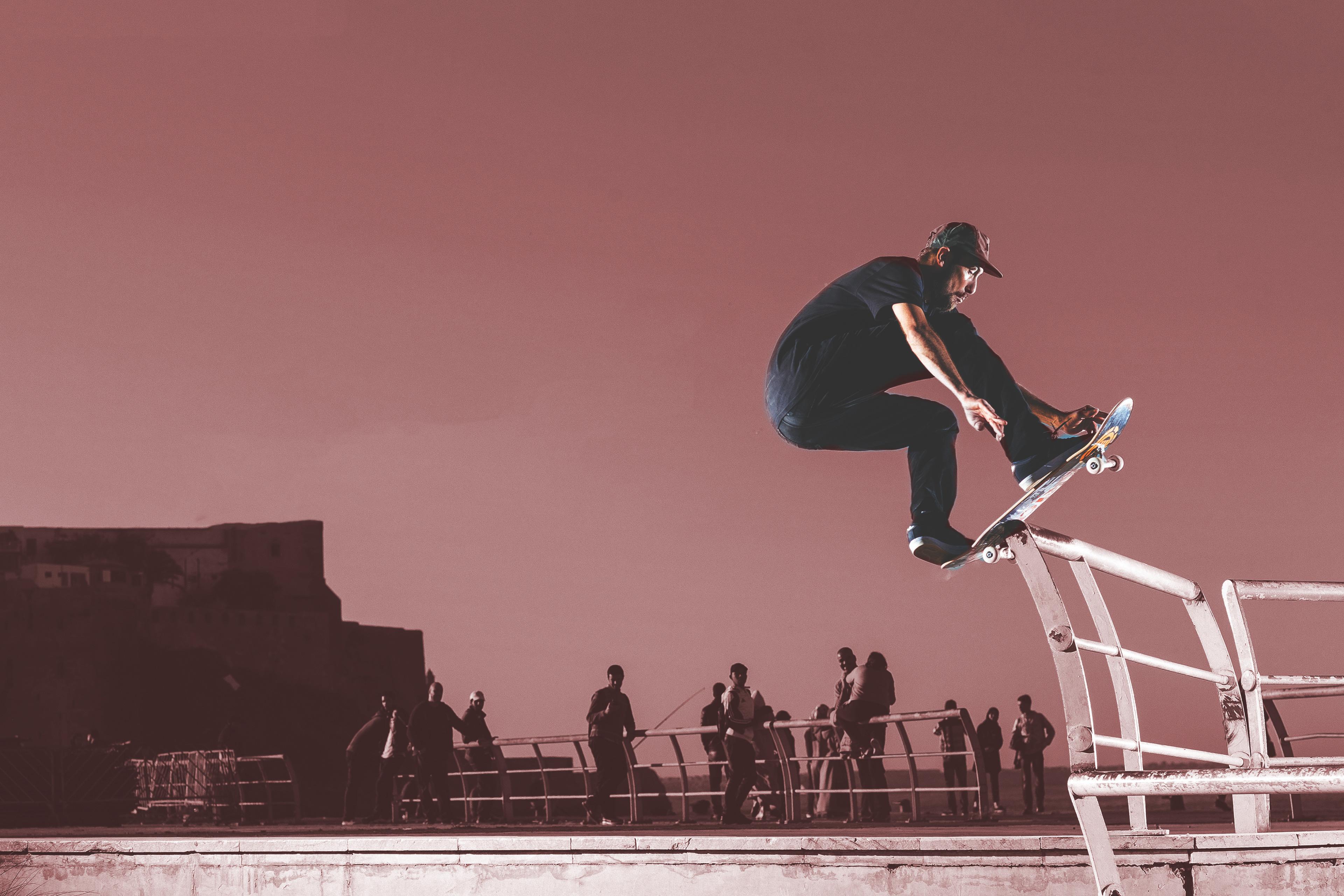 1920x1080 Skateboard Stunting Man 4k Laptop Full HD 1080P ...