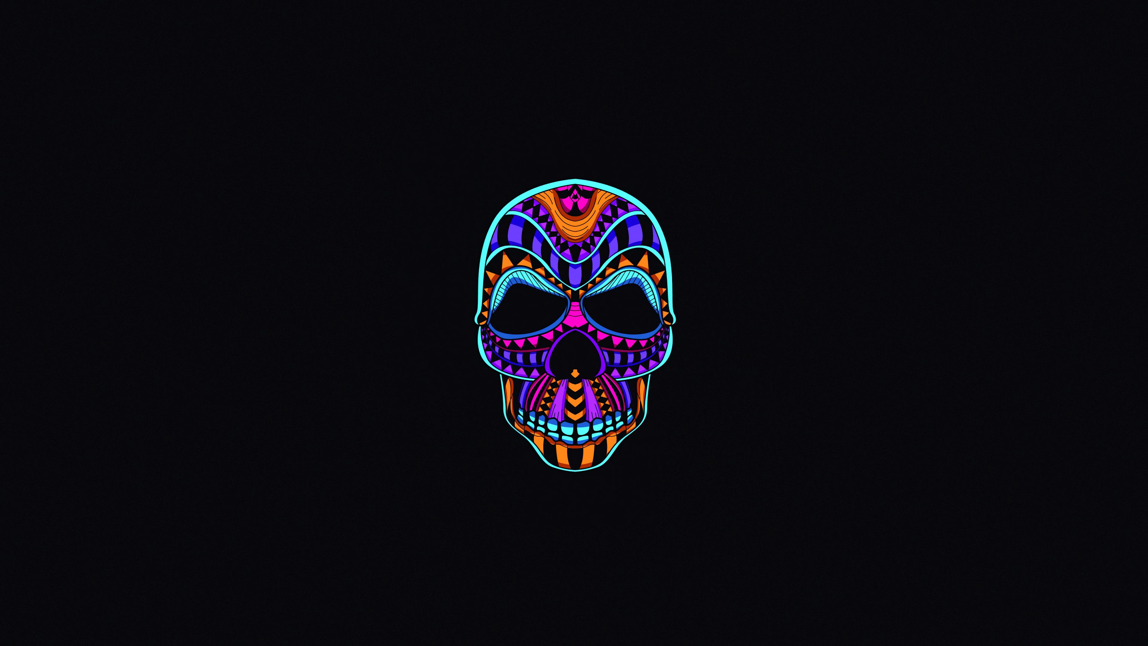 Skull Dark Minimal 4k Hd Movies 4k Wallpapers Images