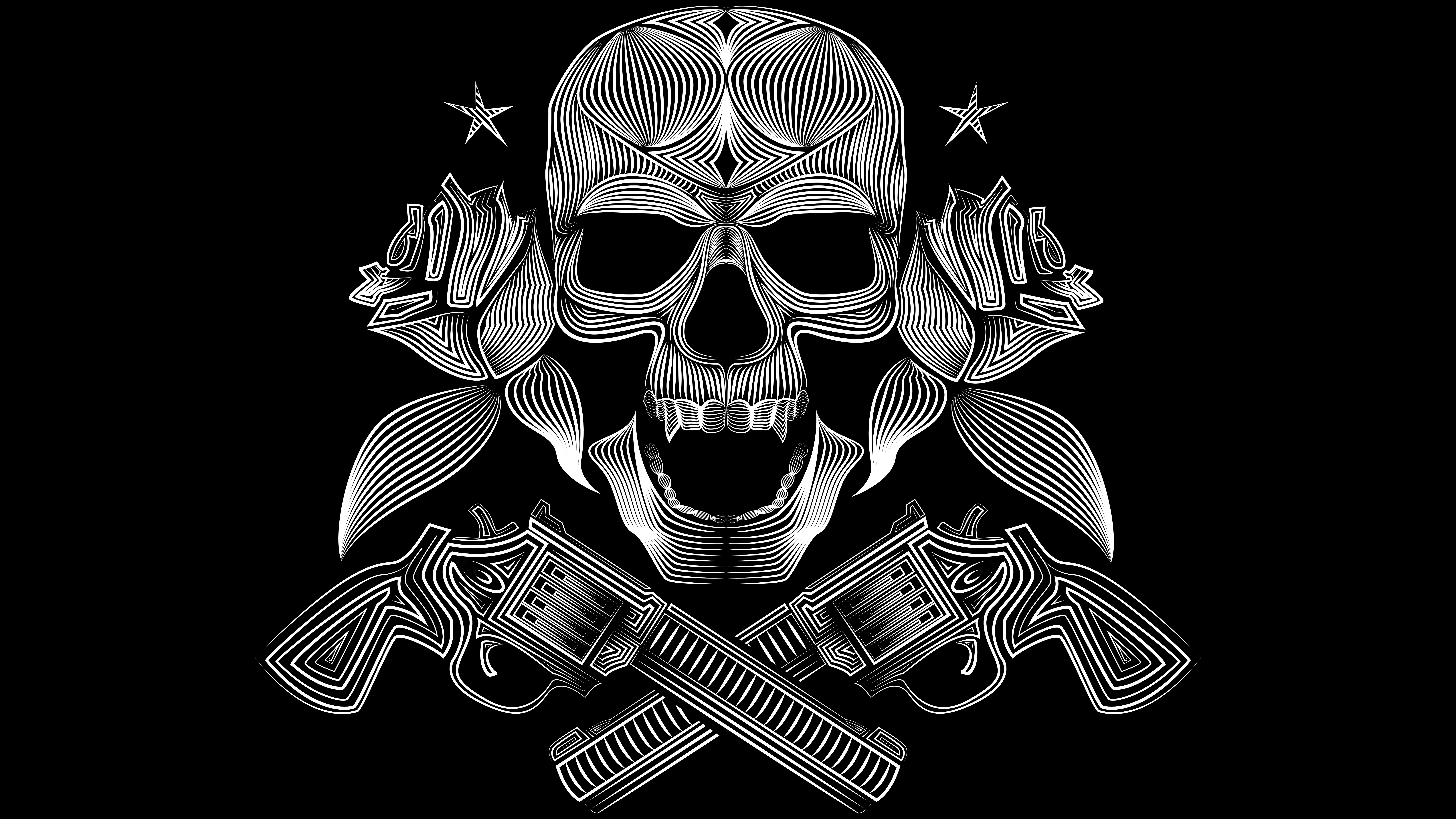 Skull Coloring Pages Guns And Roses