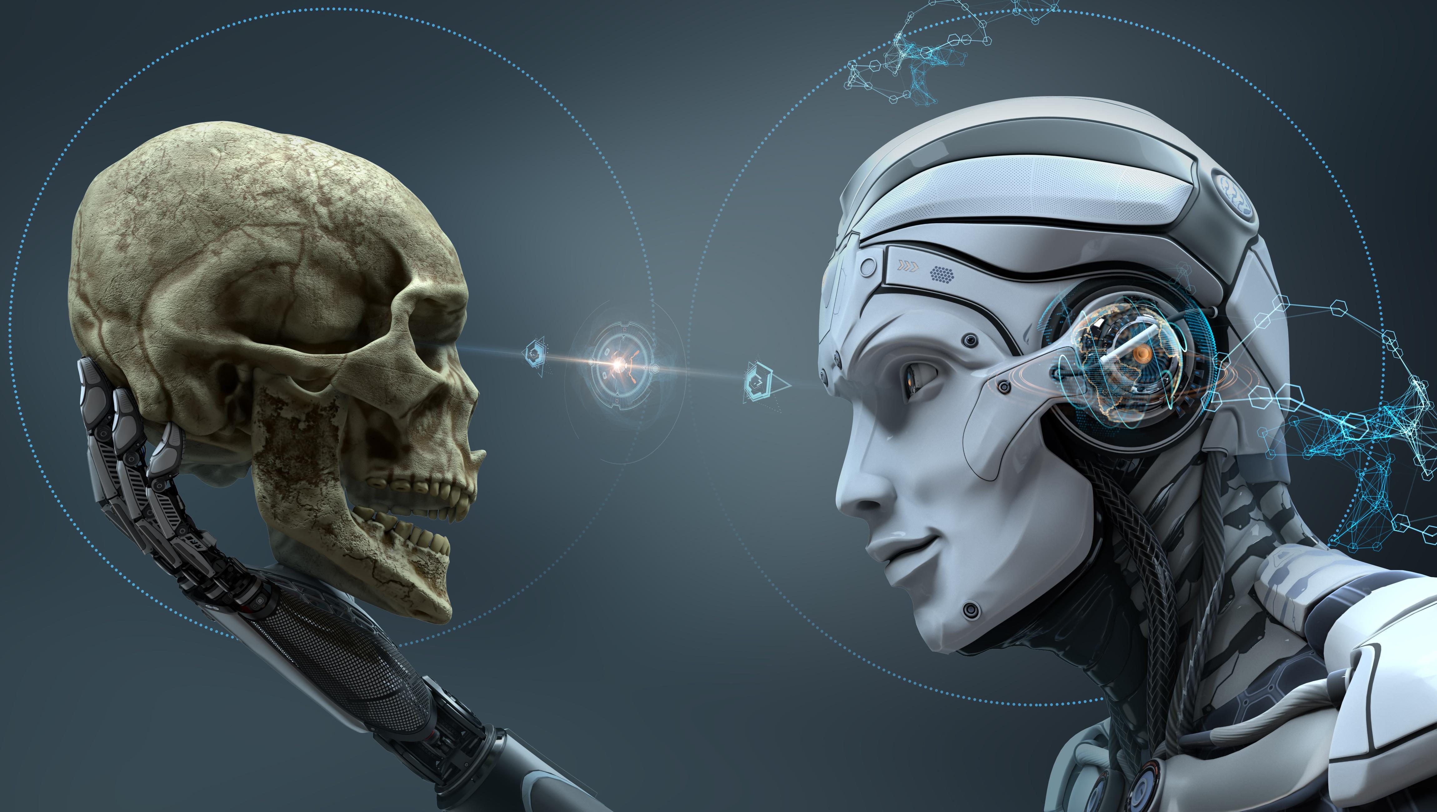 Skull machine robot hd others 4k wallpapers images - Skull 4k images ...