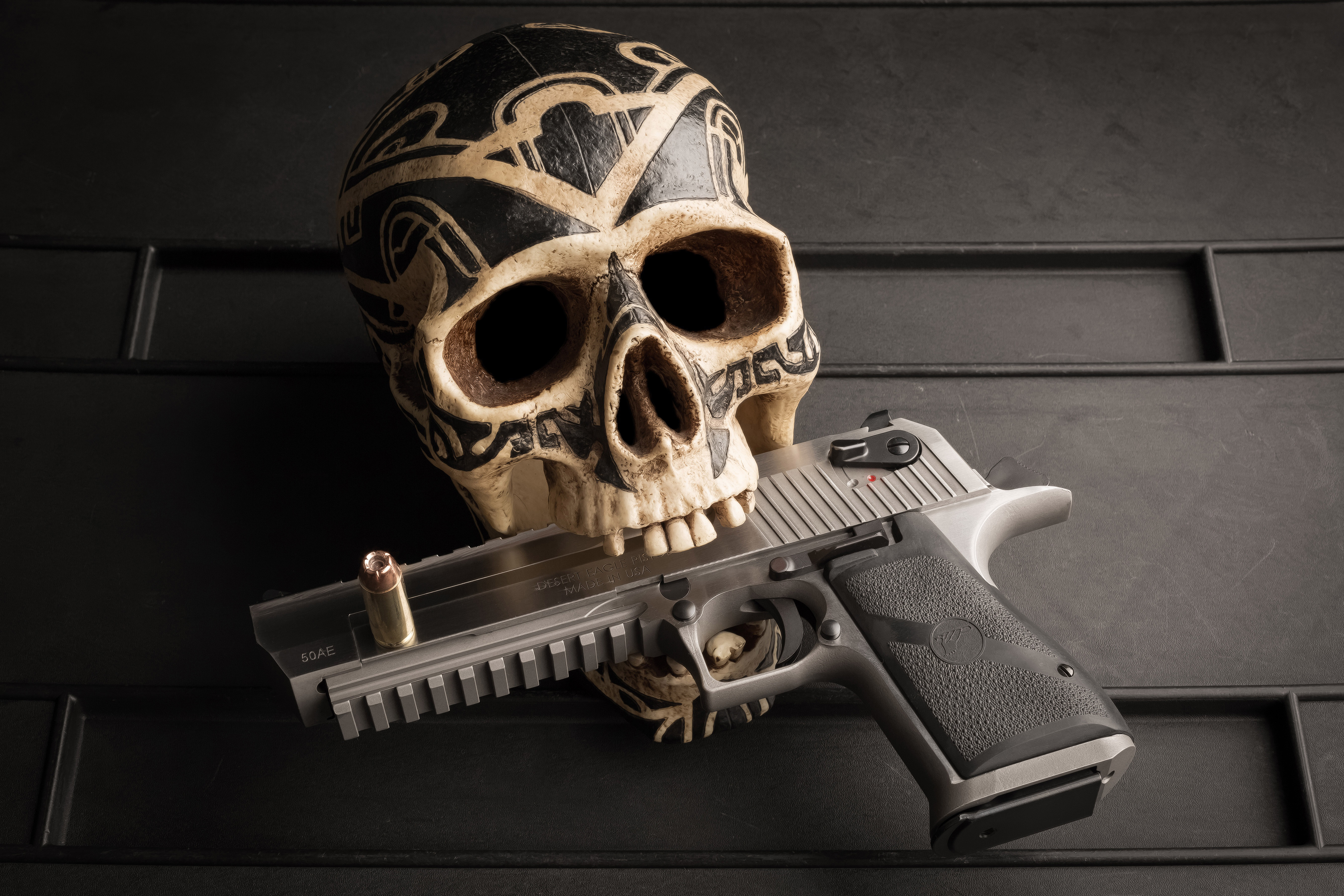 1366x768 Skull Pistol 5k 1366x768 Resolution HD 4k Wallpapers, Images, Backgrounds, Photos and ...