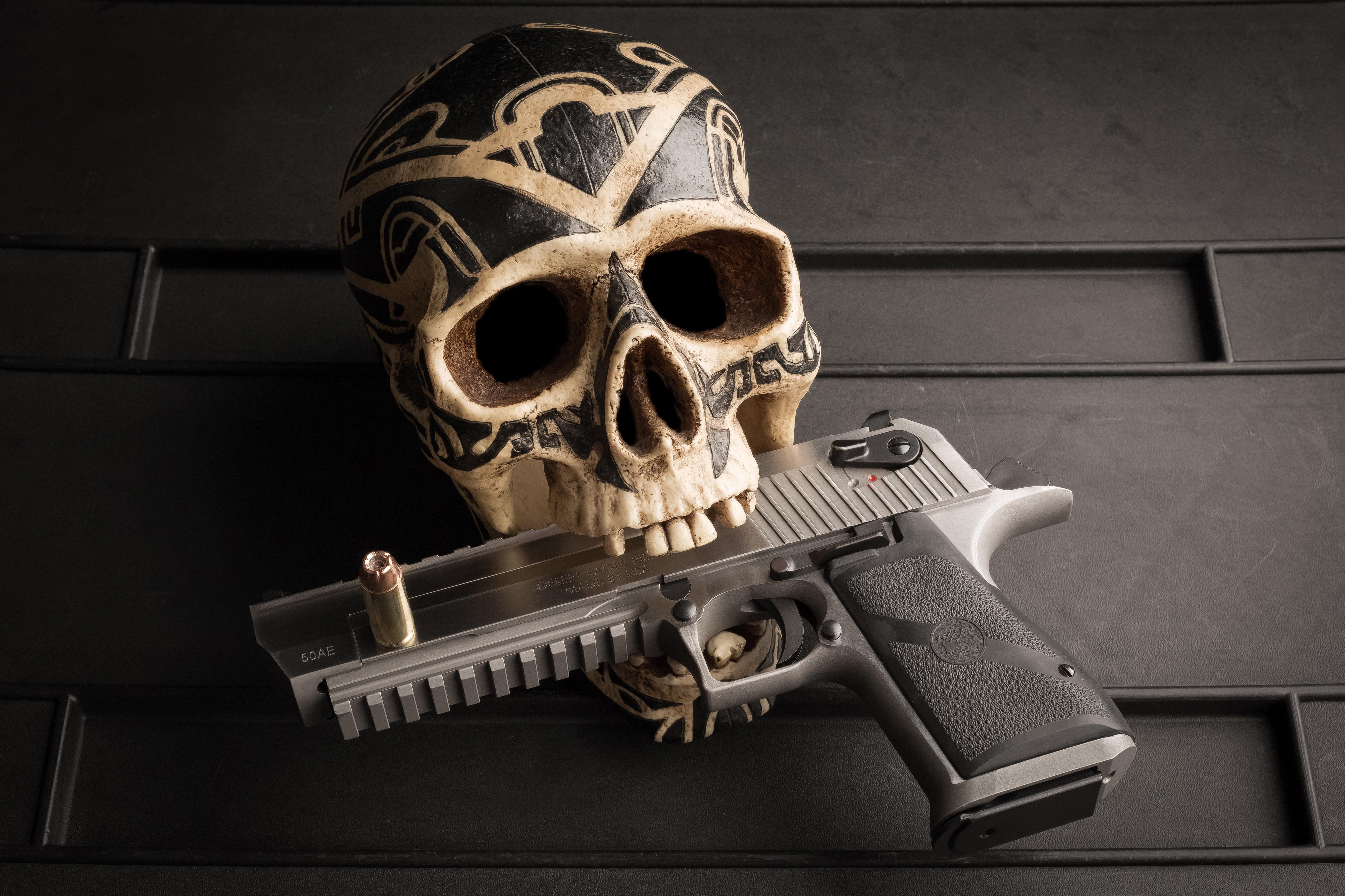 Skull Pistol 5k Hd Others 4k Wallpapers Images Backgrounds