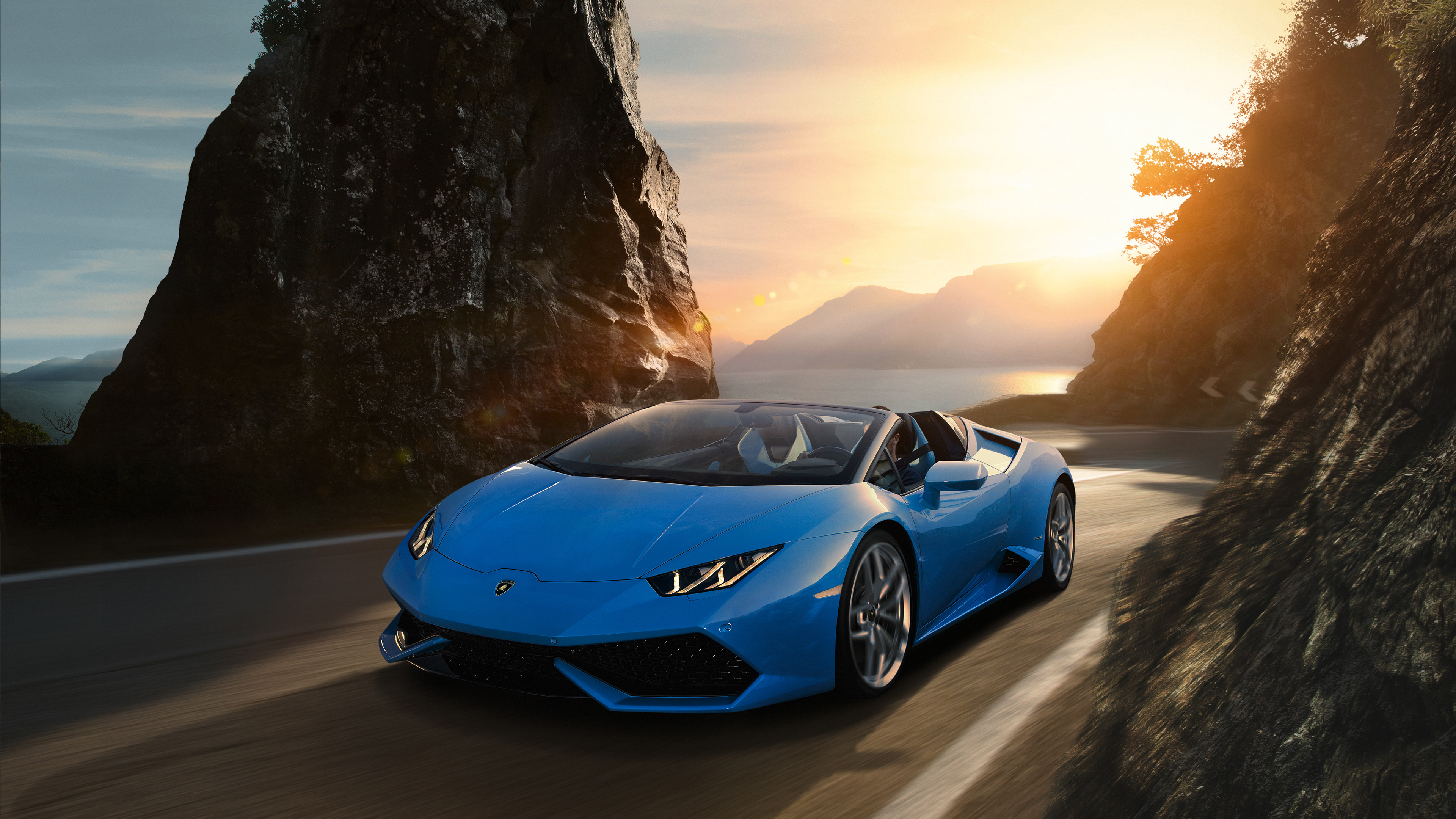 Sky Blue Lamborghini Huracan 4k, HD Cars, 4k Wallpapers