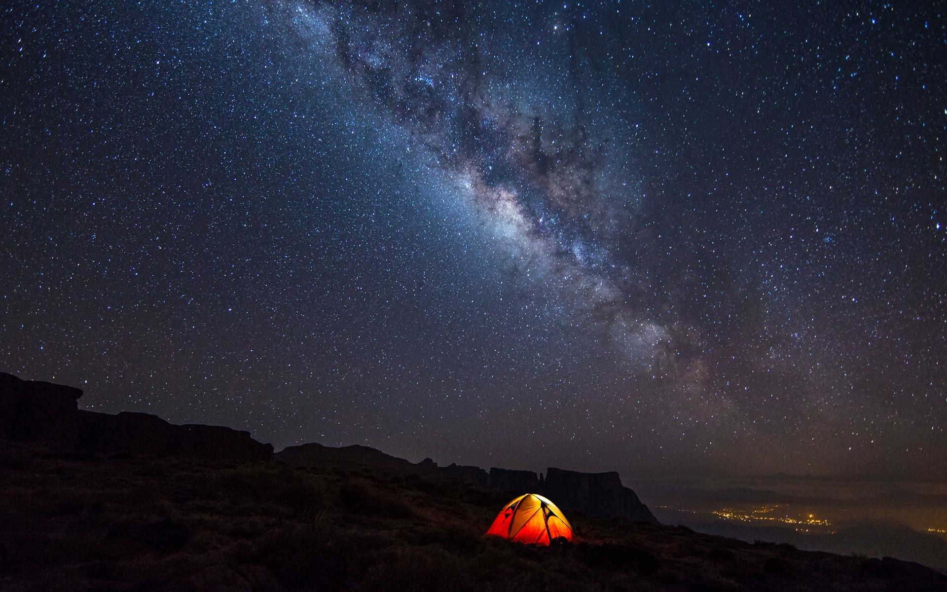 Sky Galaxy Camp Hd Nature 4k Wallpapers Images