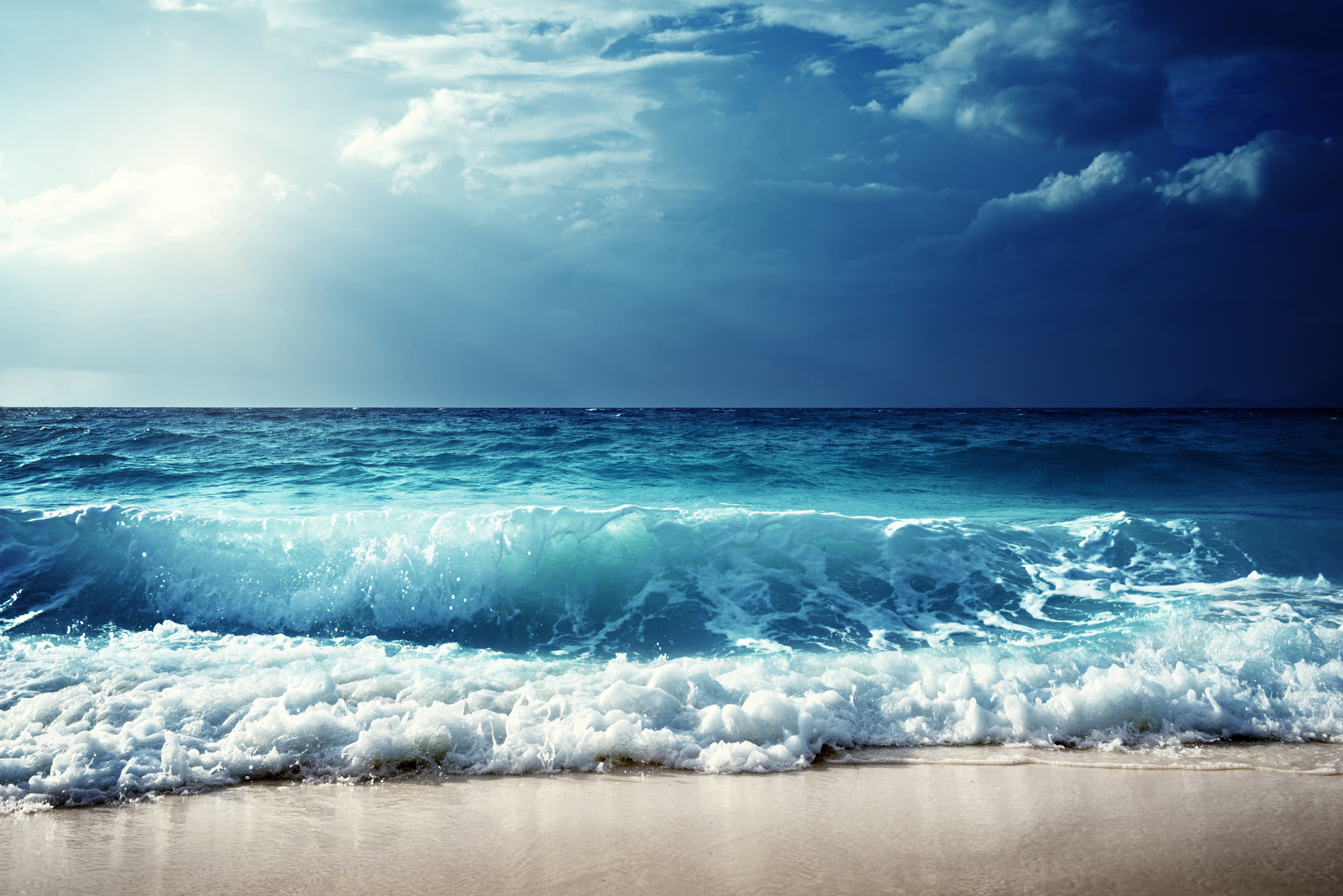 1920x1080 Sky Sea Waves Horizon 5k Laptop Full HD 1080P HD ...