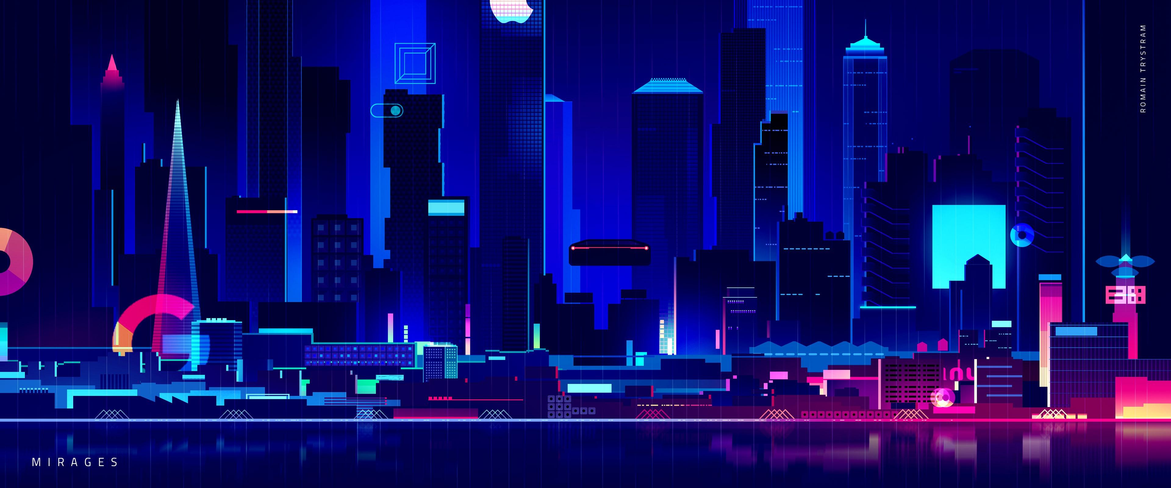 Skyscraper Synthwave Digital Art 4k, HD Artist, 4k ...