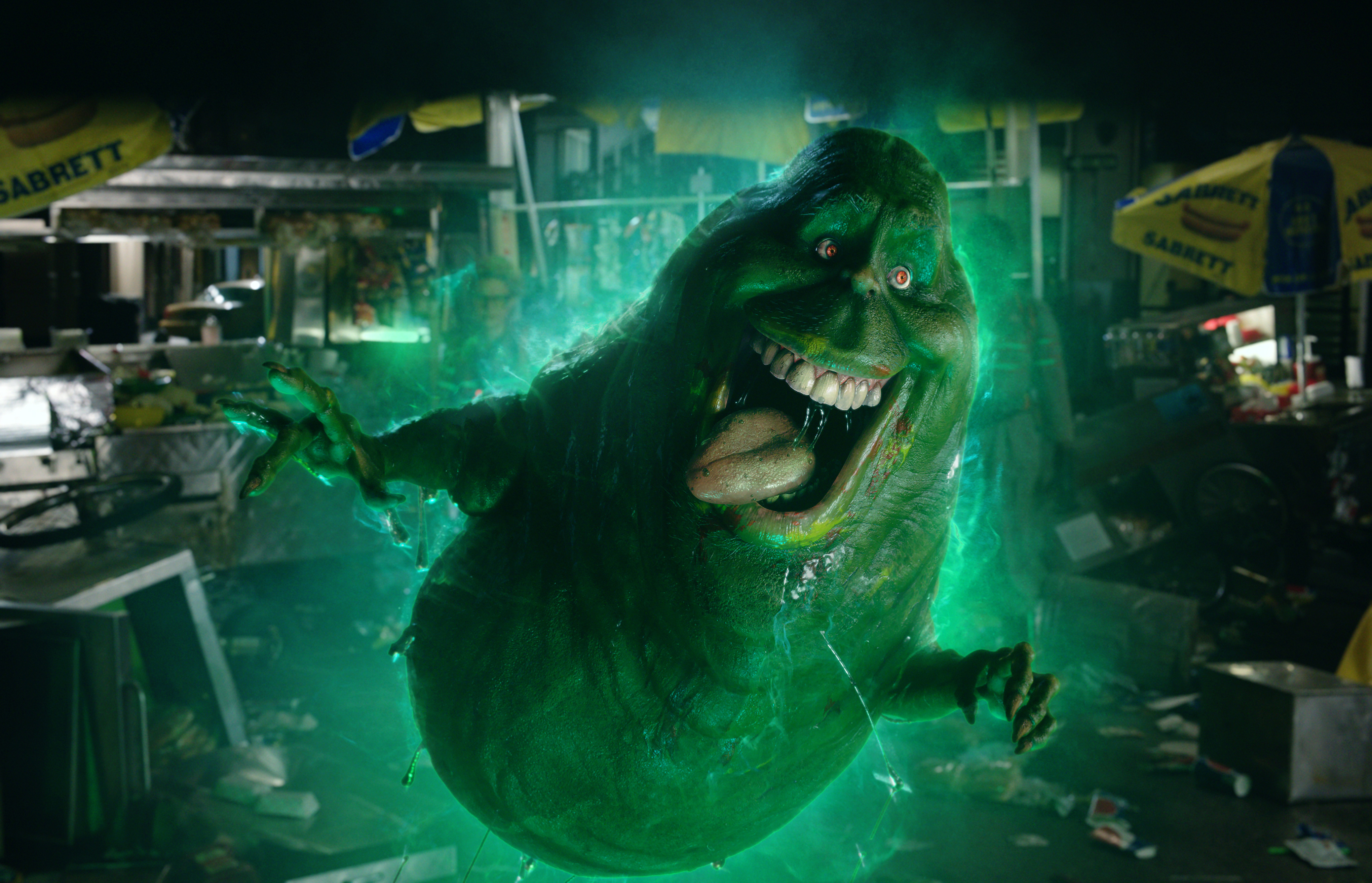 slimer in ghostbusters 5k, hd movies, 4k wallpapers, images