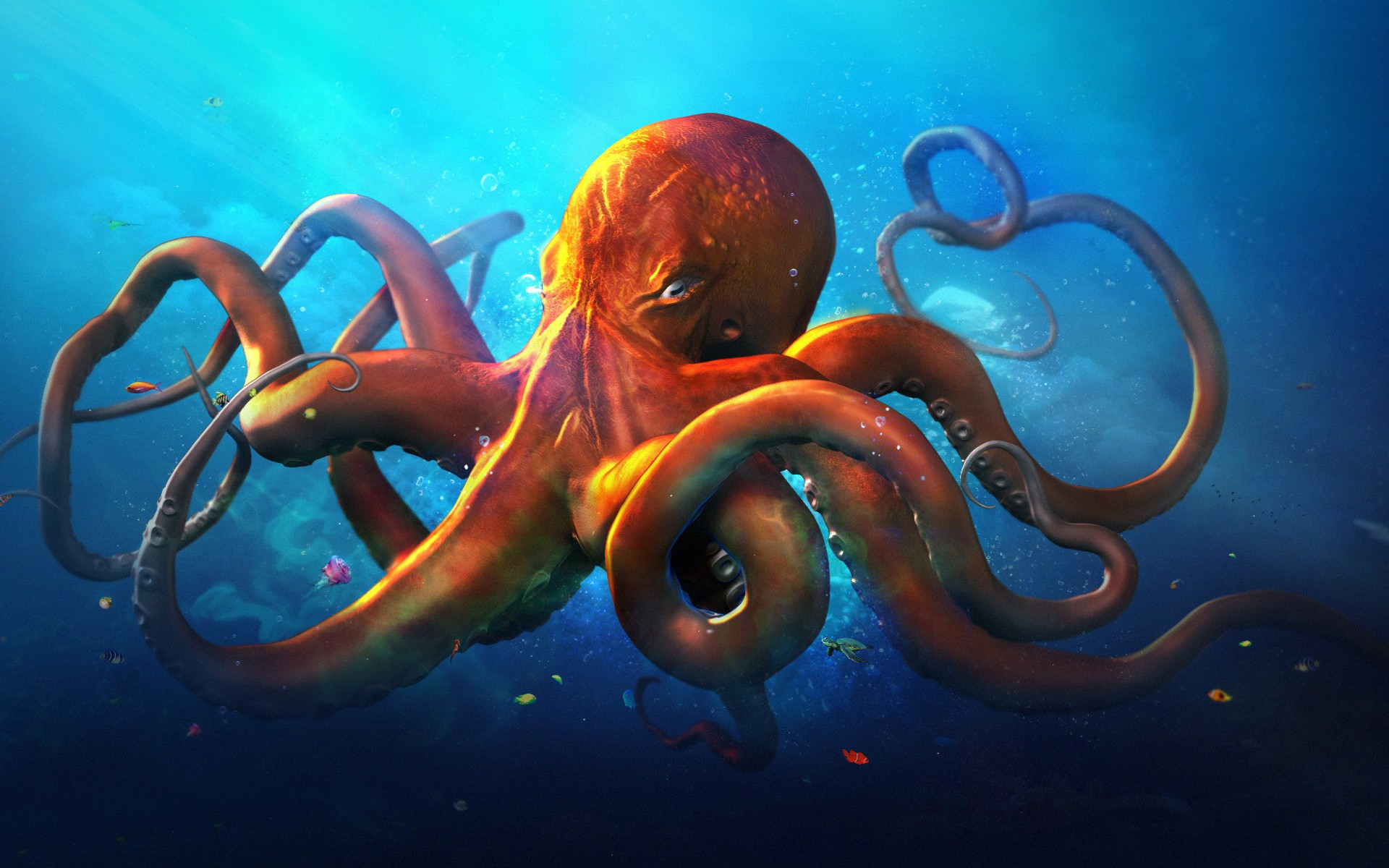 Slouching Octopus Graphics HD k Wallpapers