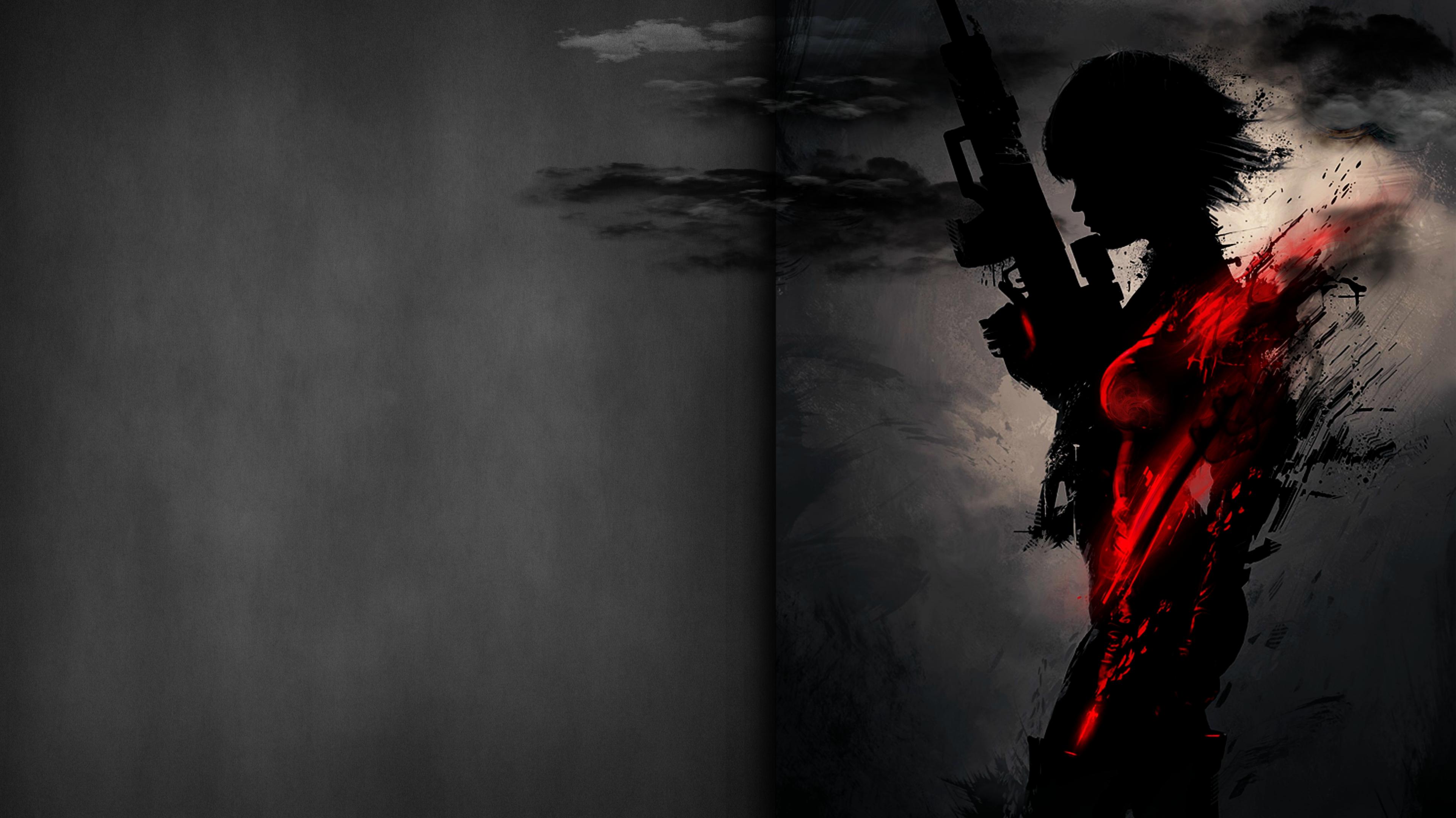 1920x1080 Sniper Artwork Dark Red 4k Laptop Full HD 1080P ...