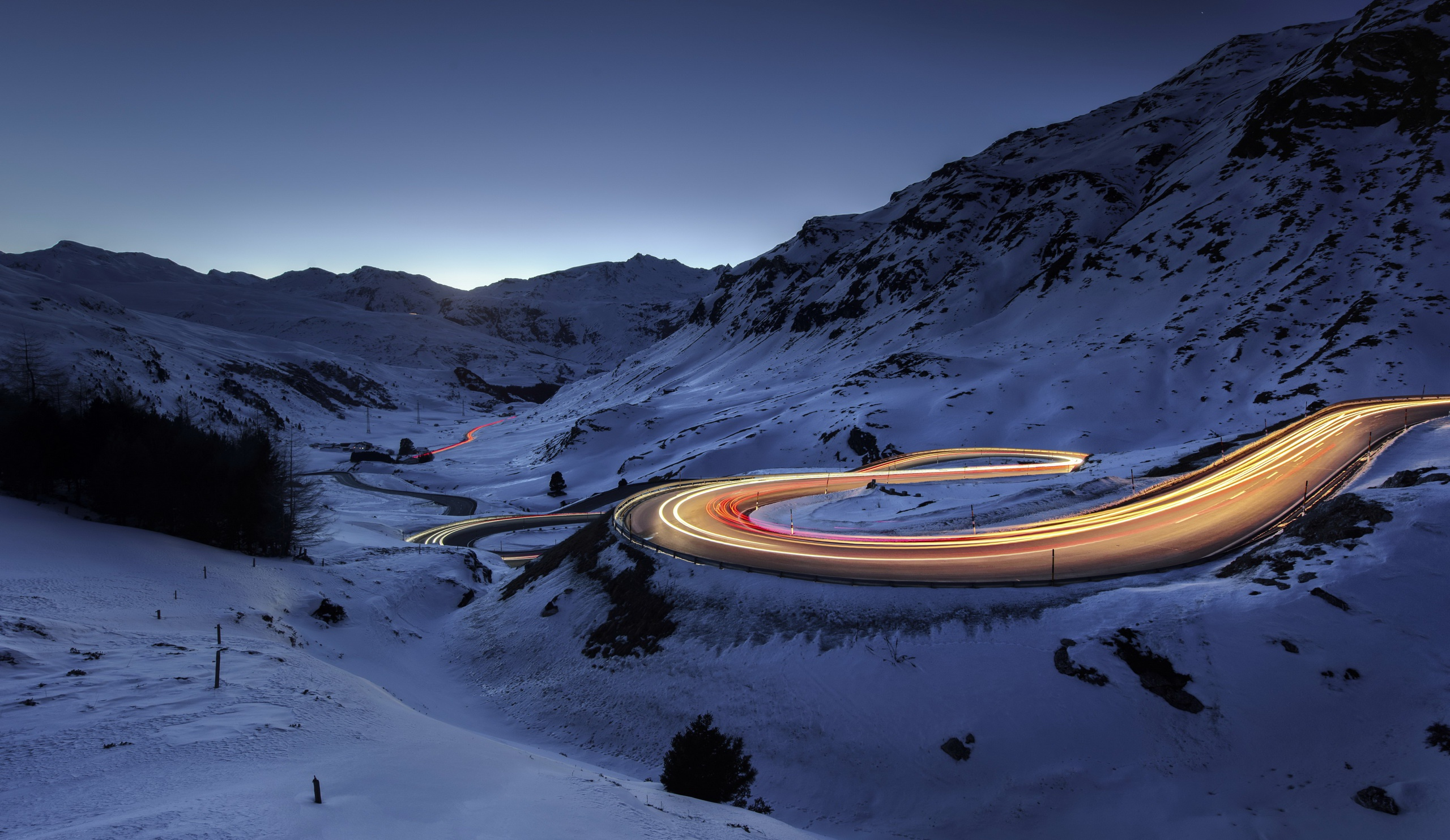 Snow road timelapse hd photography 4k wallpapers images for Sfondi pc 4k