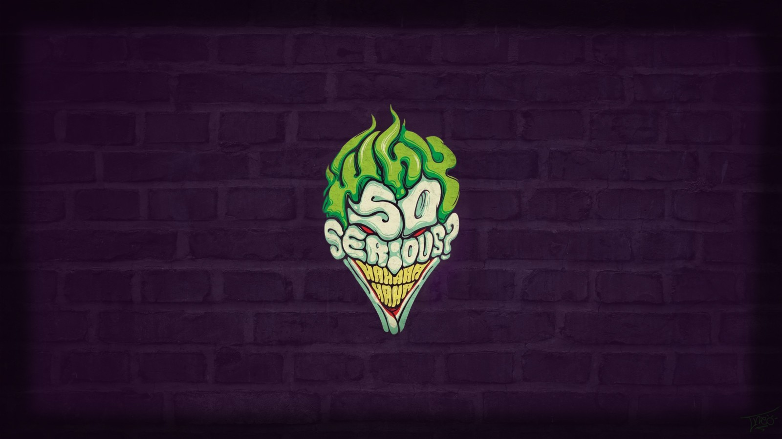 so serious joker, hd typography, 4k wallpapers, images, backgrounds