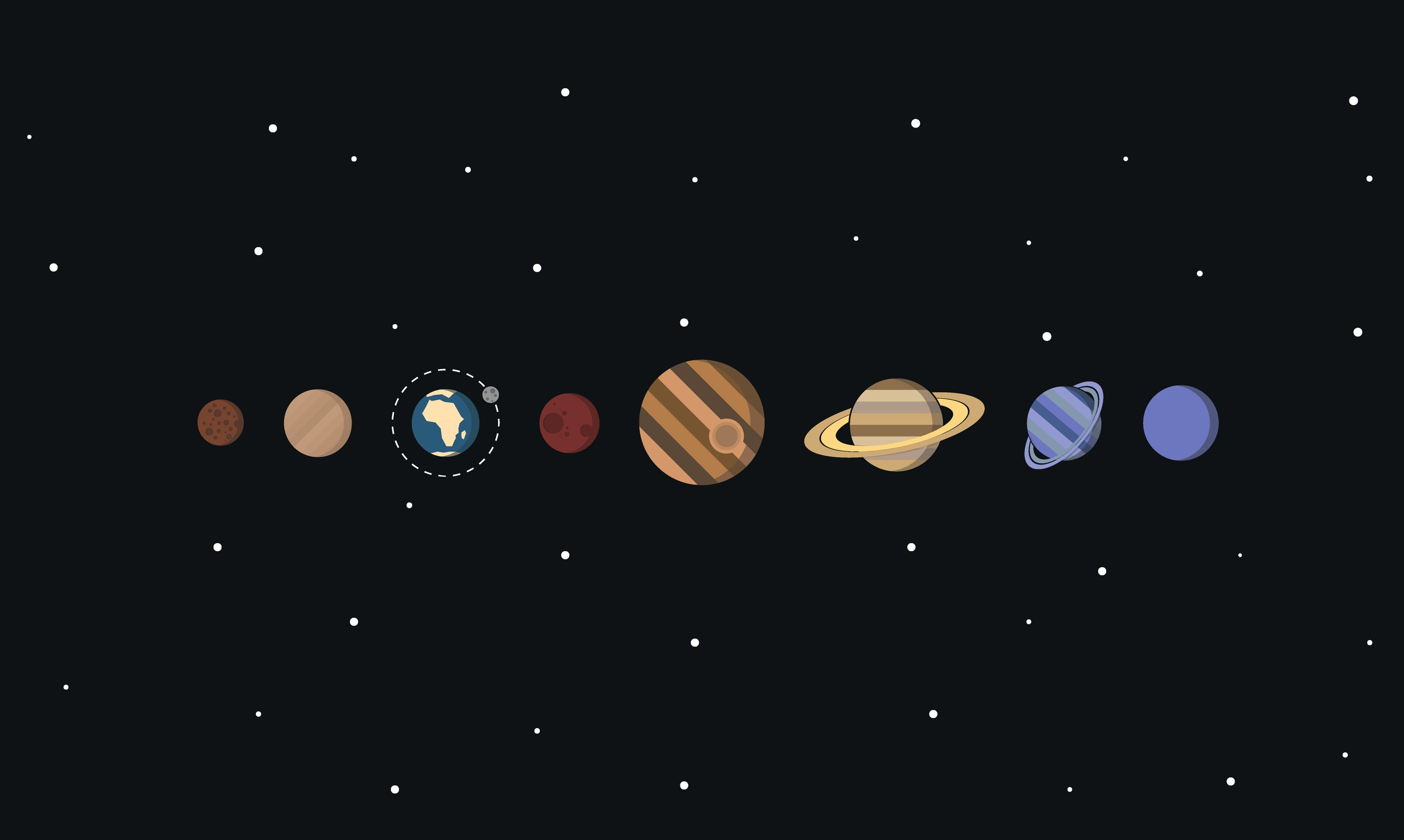 Solar System Minimalism Hd Artist 4k Wallpapers Images