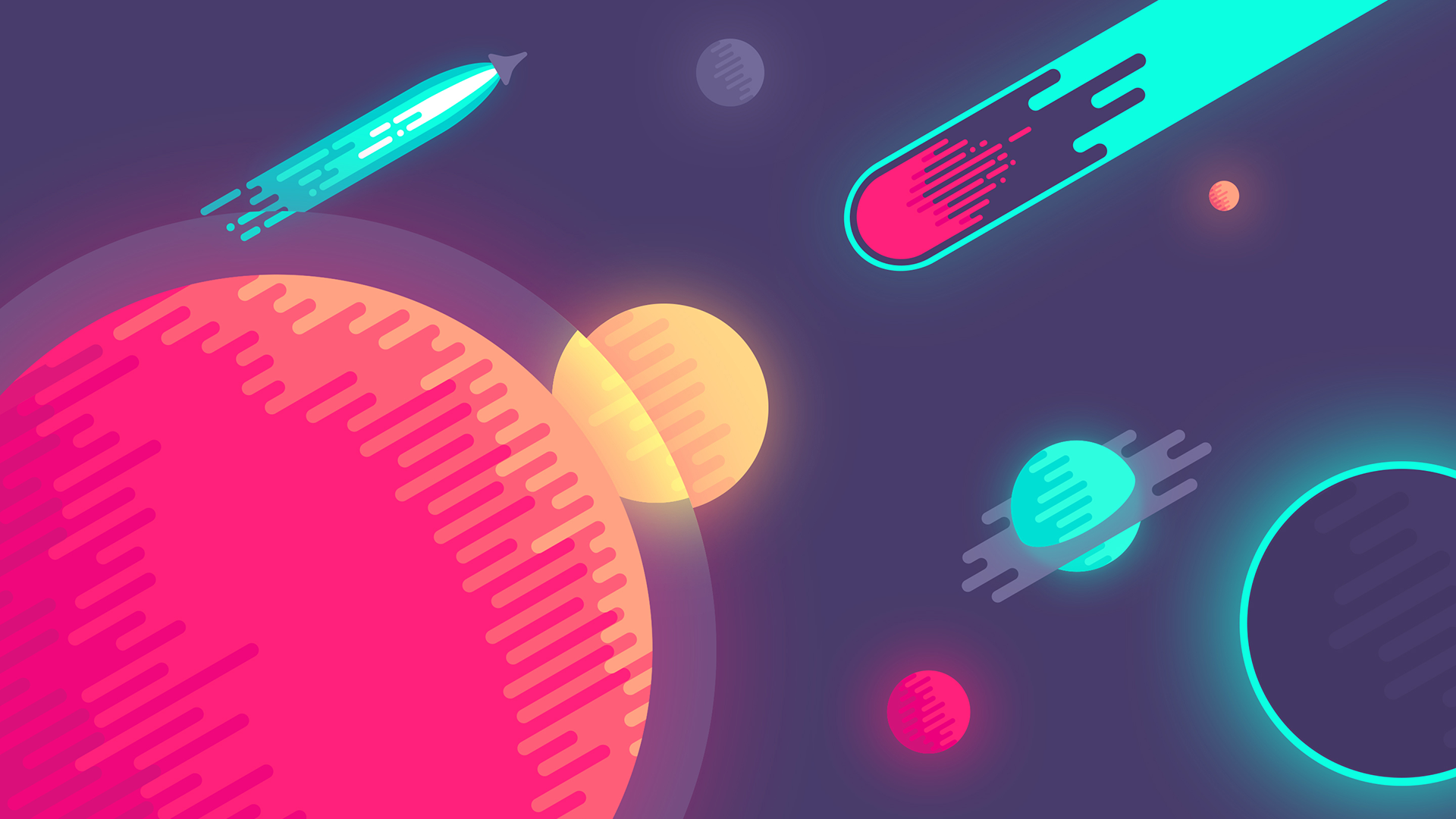 1920x1080 space colorful minimalism hd 4k wallpapers in 1920x1080