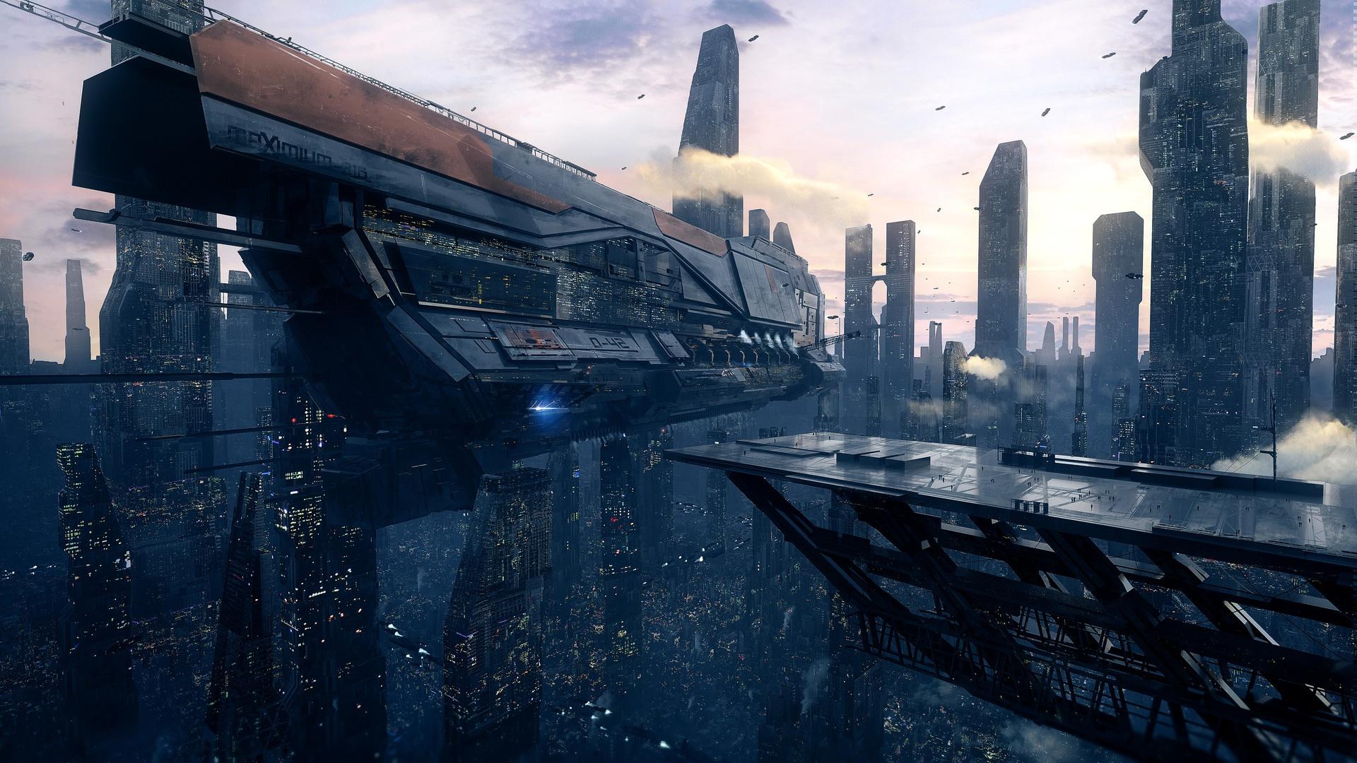 Eship Scifi City
