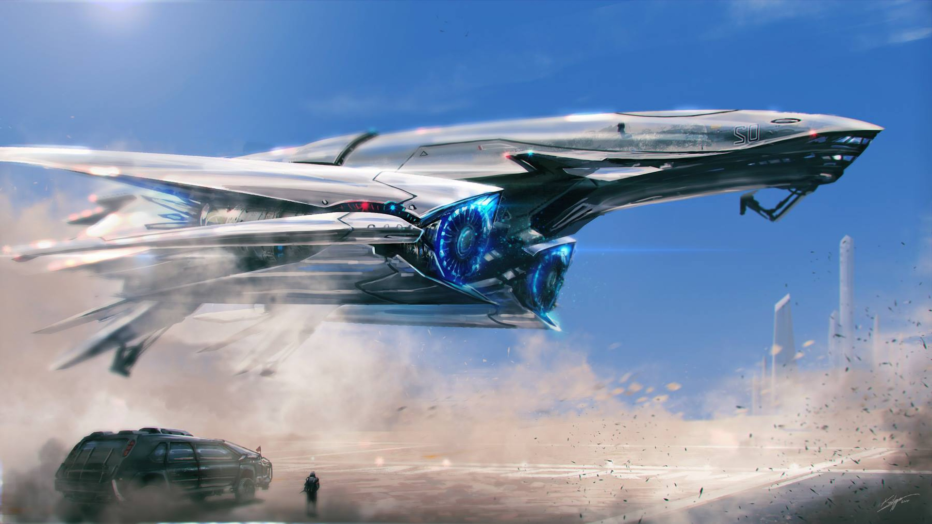 Spaceship Scifi, HD Digital Universe, 4k Wallpapers
