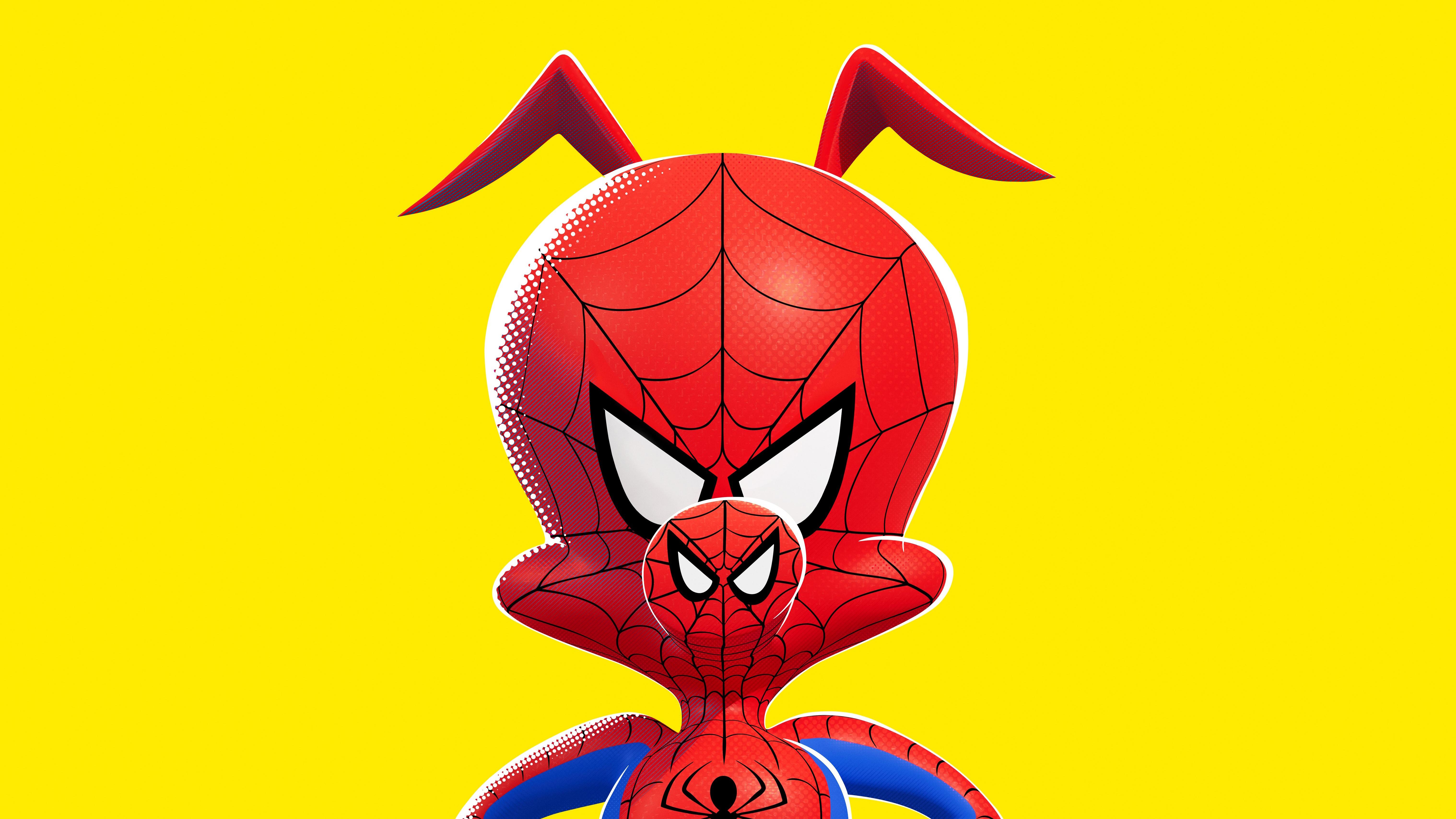 Spider Ham In Spiderman Into The Spider Verse Movie Poster
