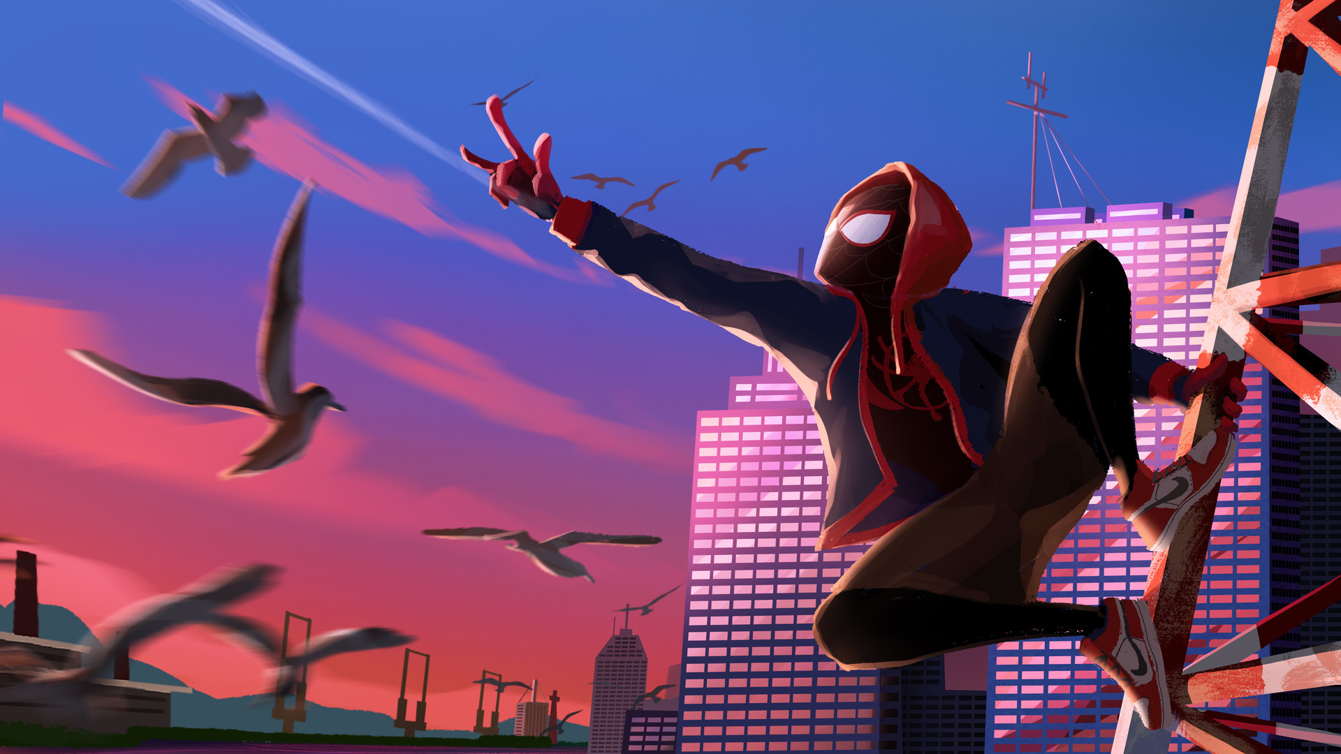 Spider Man Into The Spider Verse Art, HD Superheroes, 4k ...