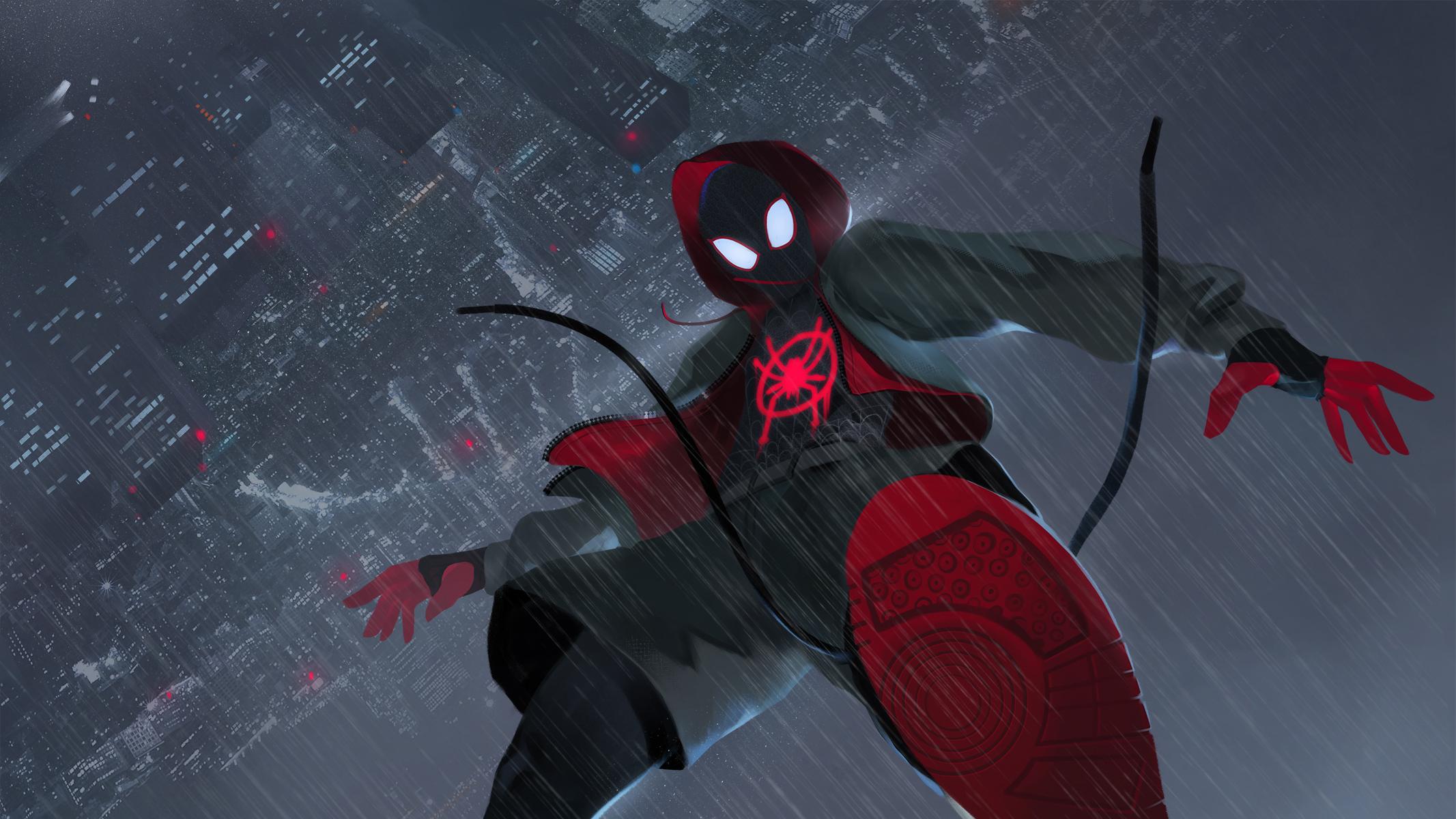Wallpaper Spider Man 2099 Fan Art 4k Creative Graphics: Spider Man Into The Spider Verse FanArt, HD Movies, 4k