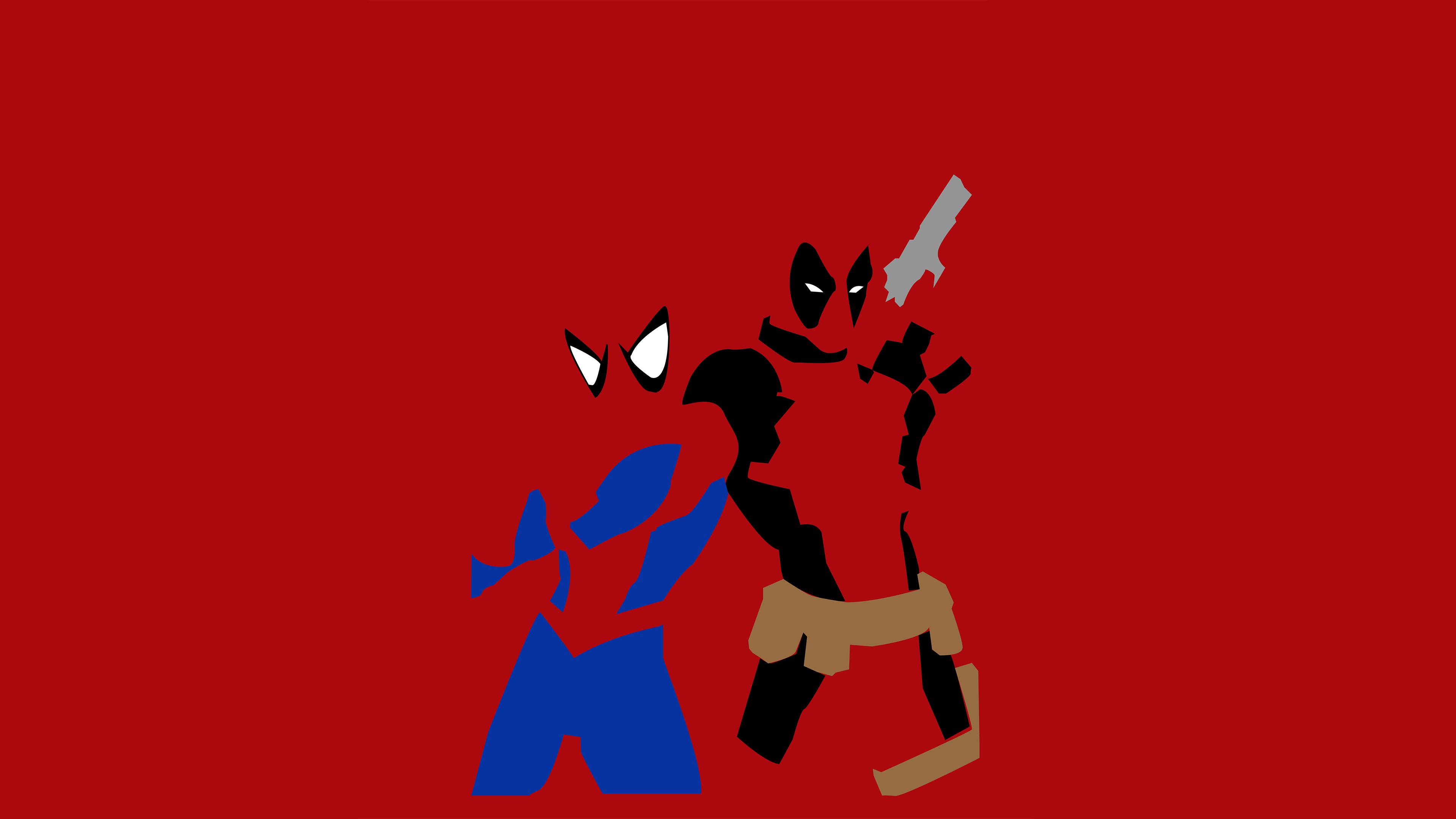 Spiderman And Deadpool Minimalism
