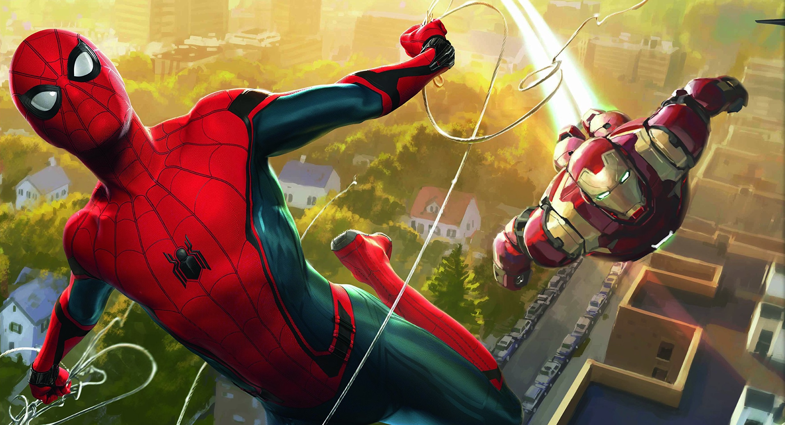 Spiderman And Iron Man Artwork Hd Movies 4k Wallpapers Images