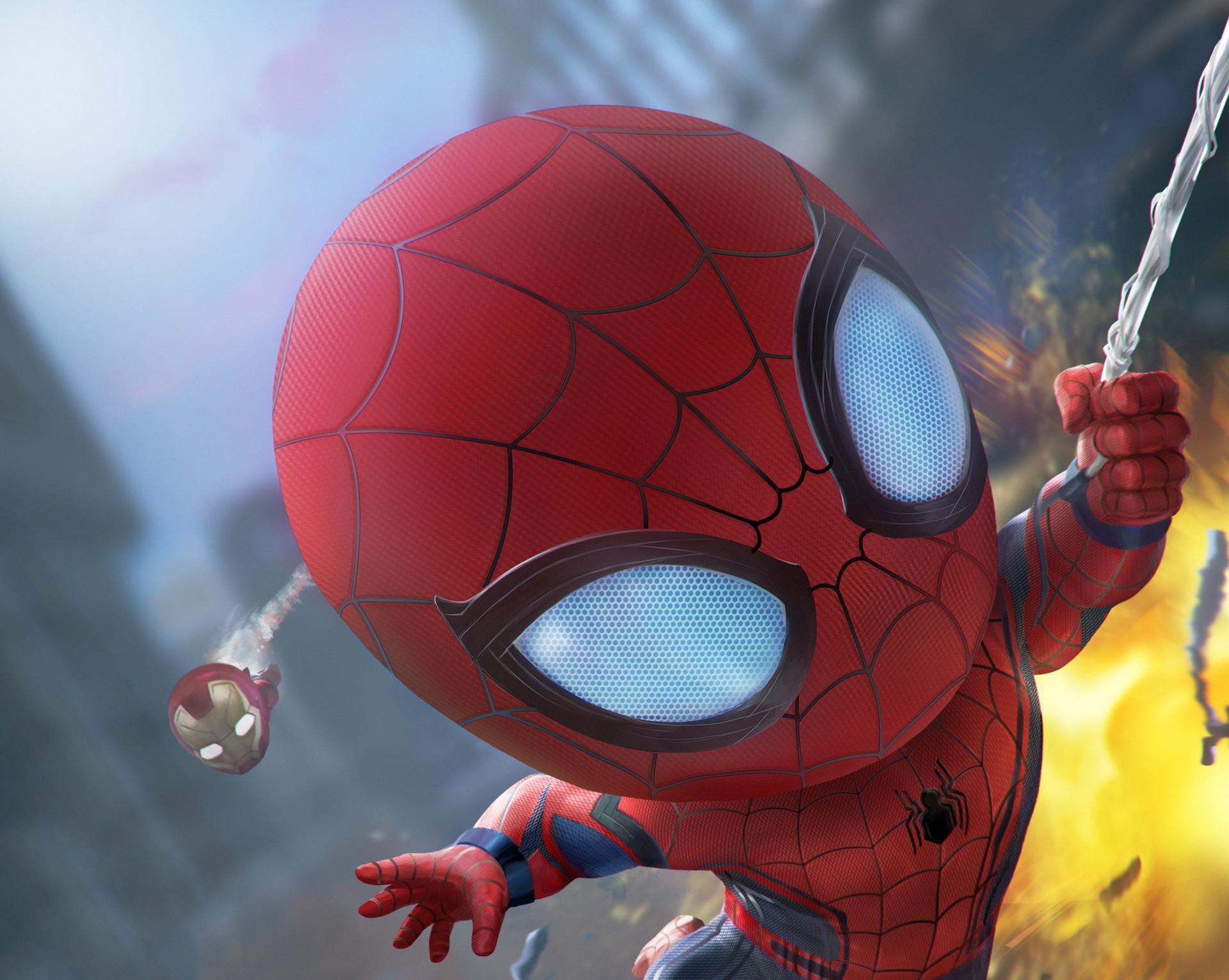 Spiderman And Iron Man Artwork HD
