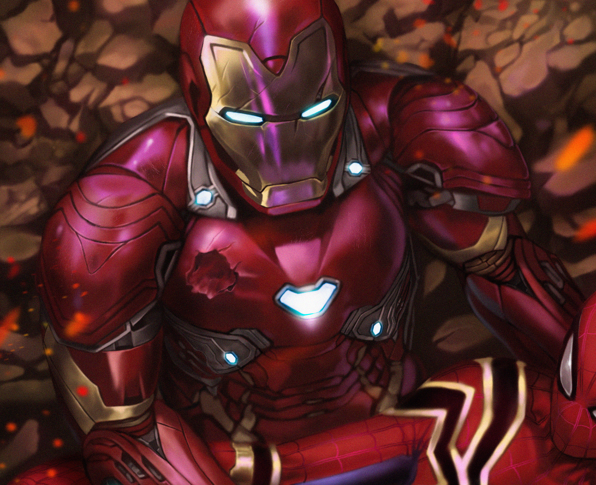 Spiderman died in iron man arms artwork hd superheroes - Spiderman and ironman wallpaper ...