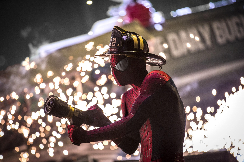 Spiderman Firefighter Hd Superheroes 4k Wallpapers Images