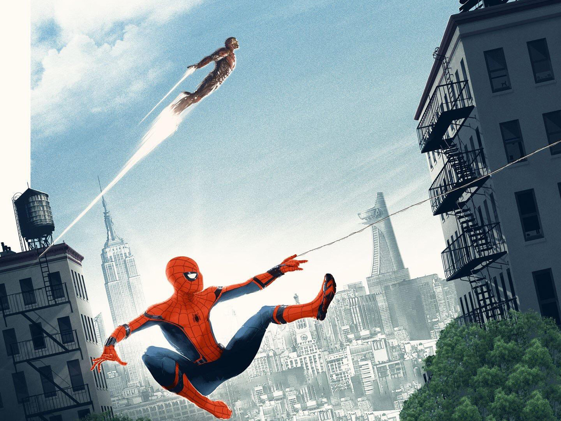 1920x1080 Spiderman Homecoming Artwork Poster Laptop Full Hd
