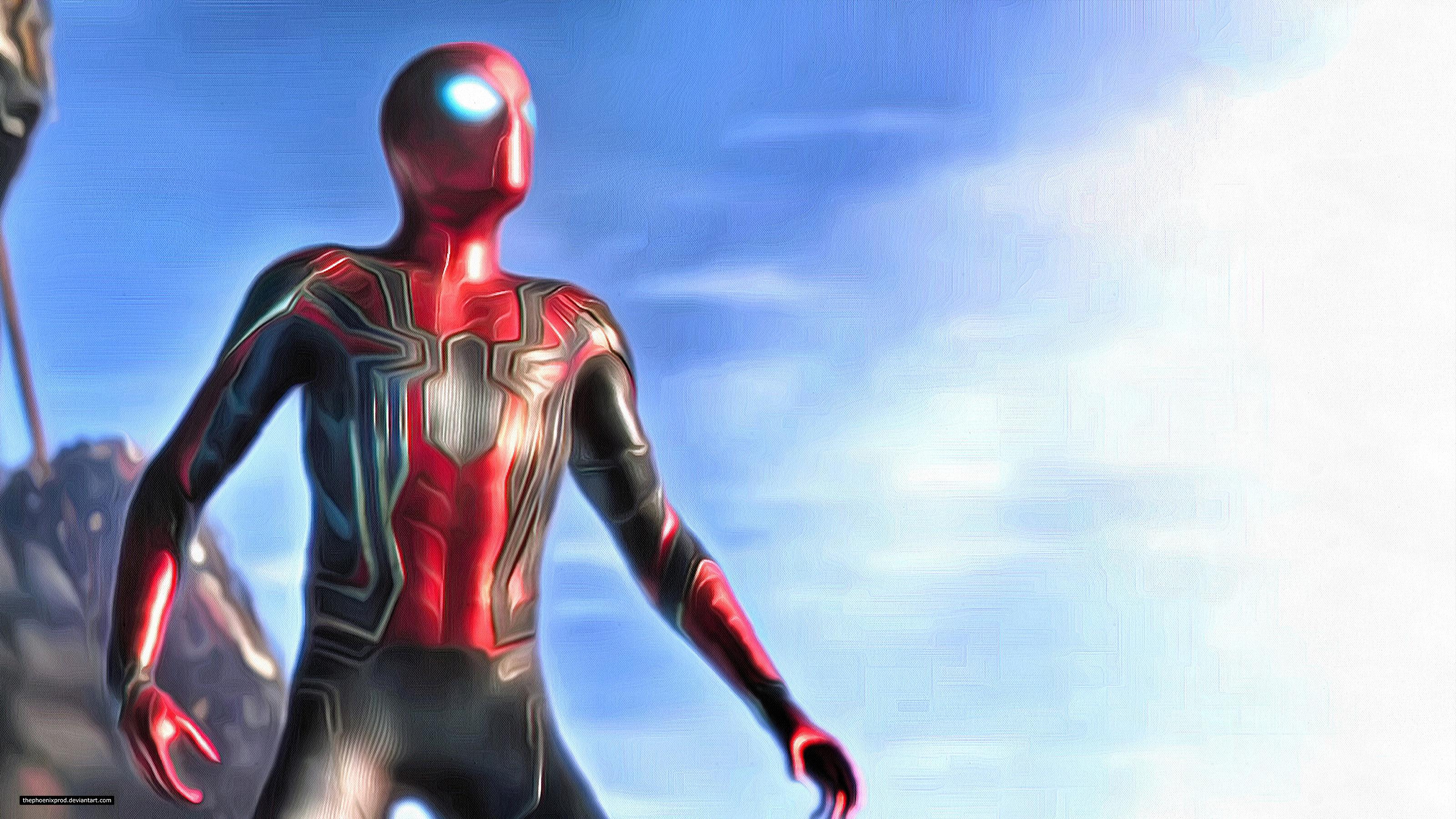キャプテン・マーベル Hd: Spiderman In Avengers Infinity War 2018 4K Artwork, HD Movies, 4k Wallpapers, Images