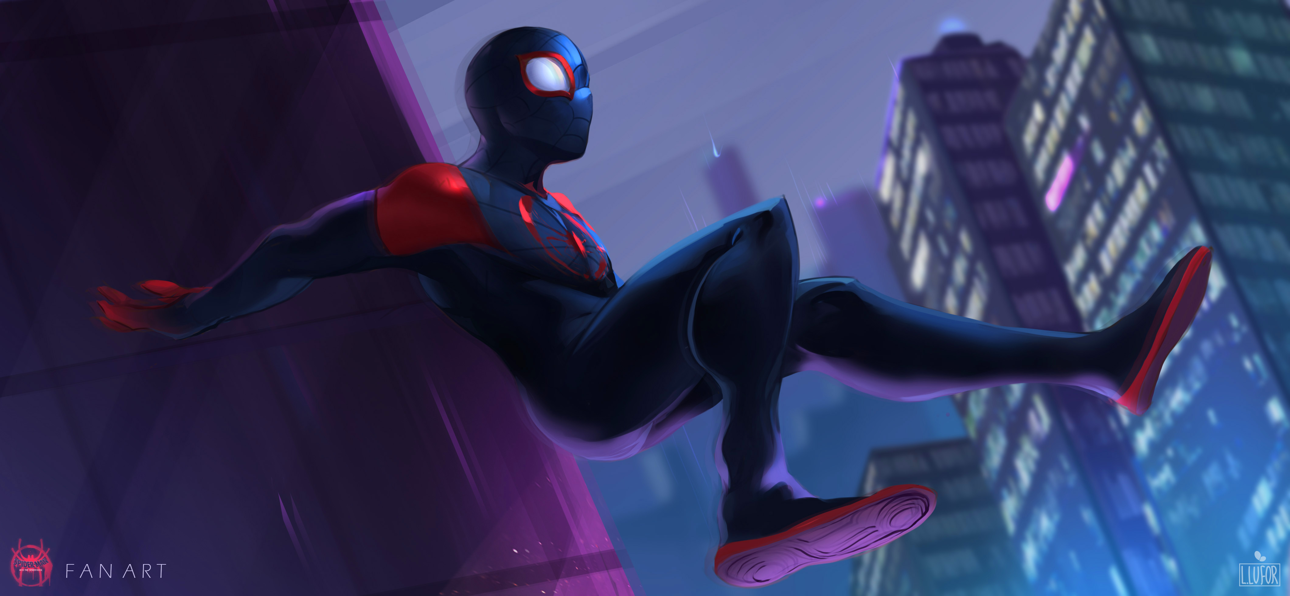 SpiderMan Into The Spider Verse 2018 Fan Art, HD Movies