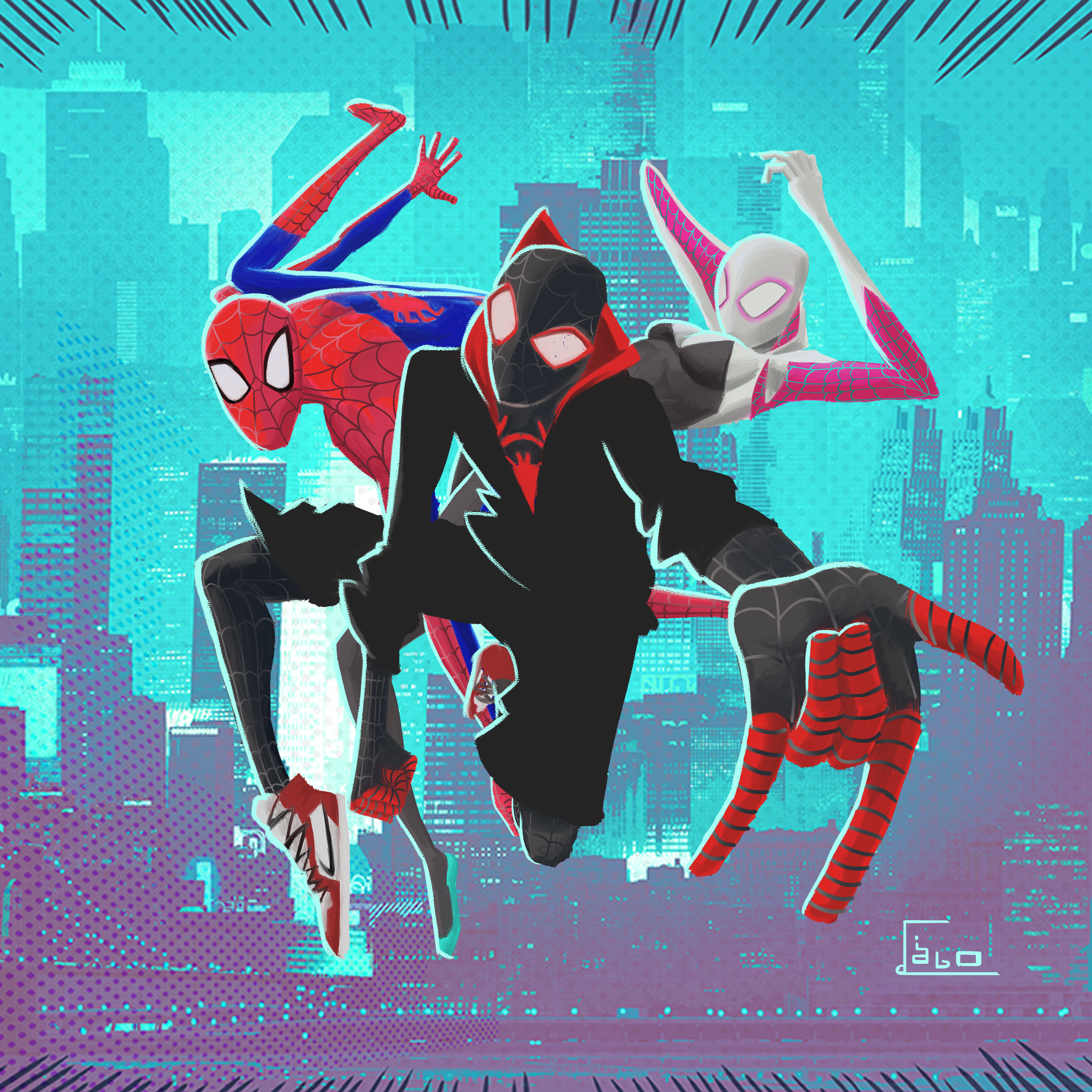 SpiderMan Into The Spider Verse 4k New Artwork, HD ...