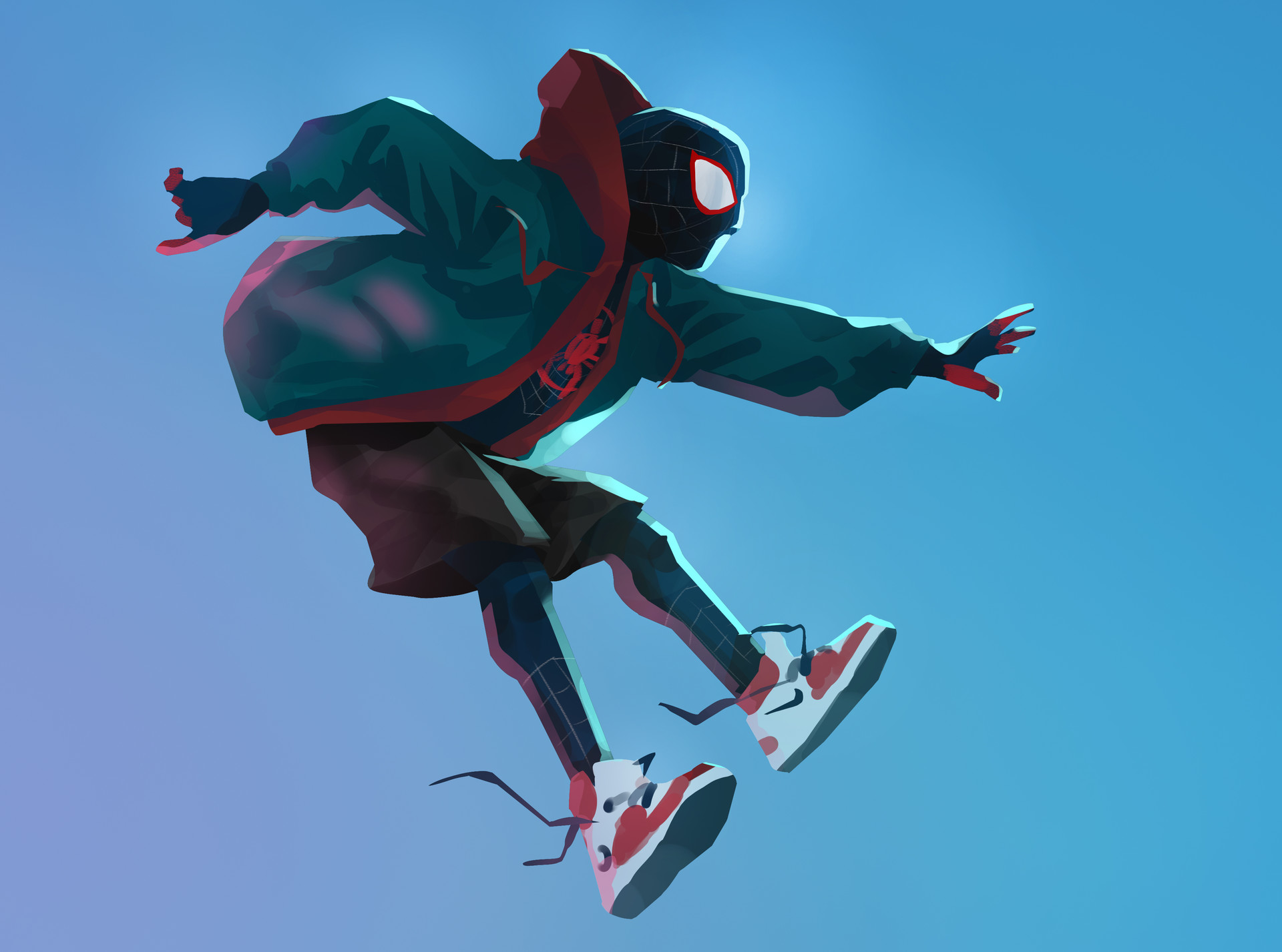 SpiderMan Into The Spider Verse Digital Art, HD