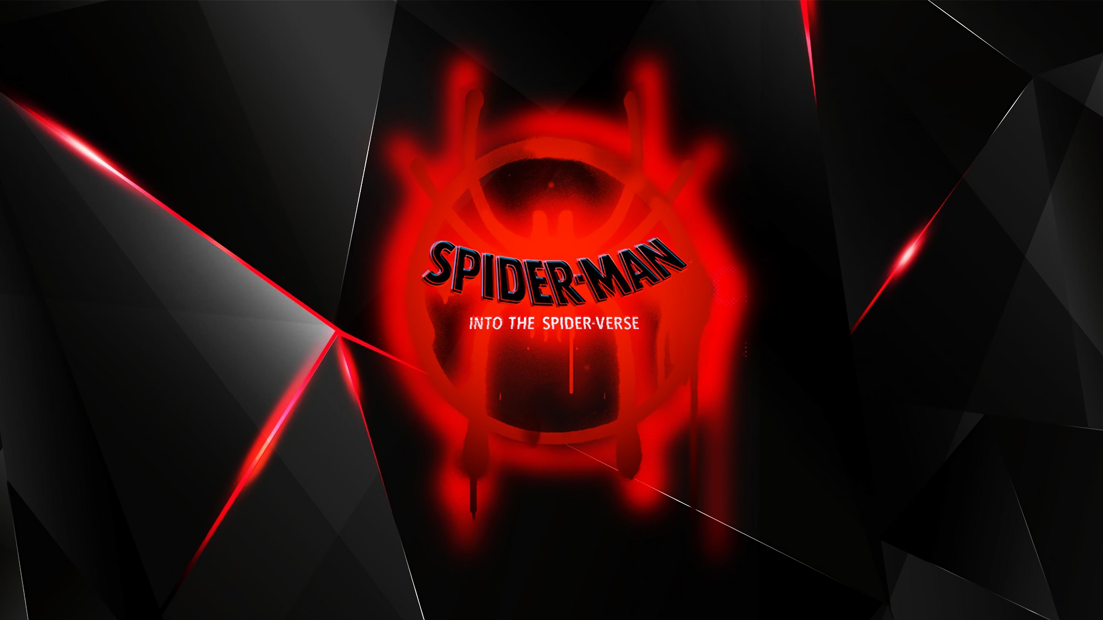 Spiderman Into The Spider Verse Movie 2018 Logo Hd Movies 4k